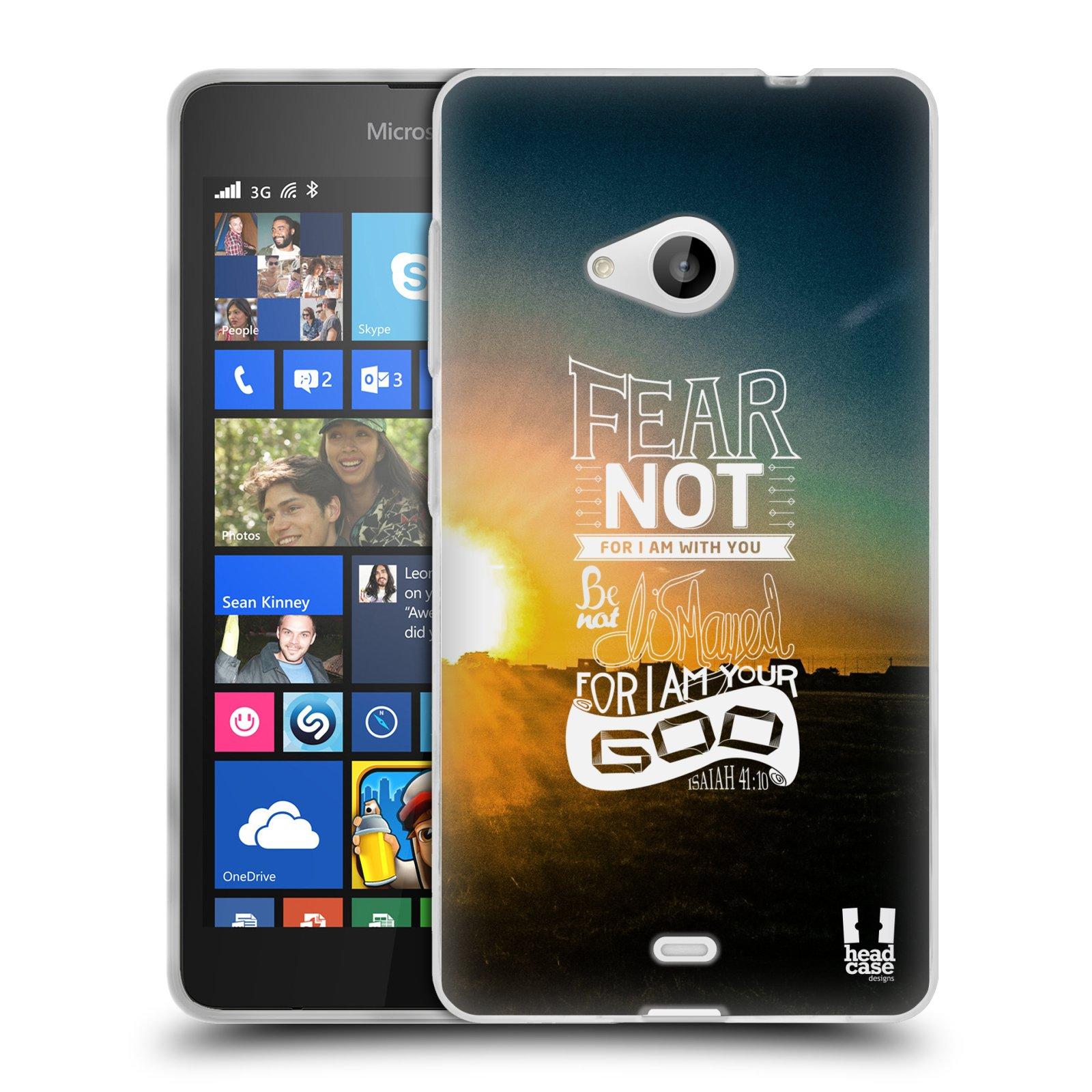 Silikonové pouzdro na mobil Microsoft Lumia 535 HEAD CASE FEAR (Silikonový kryt či obal na mobilní telefon Microsoft Lumia 535)