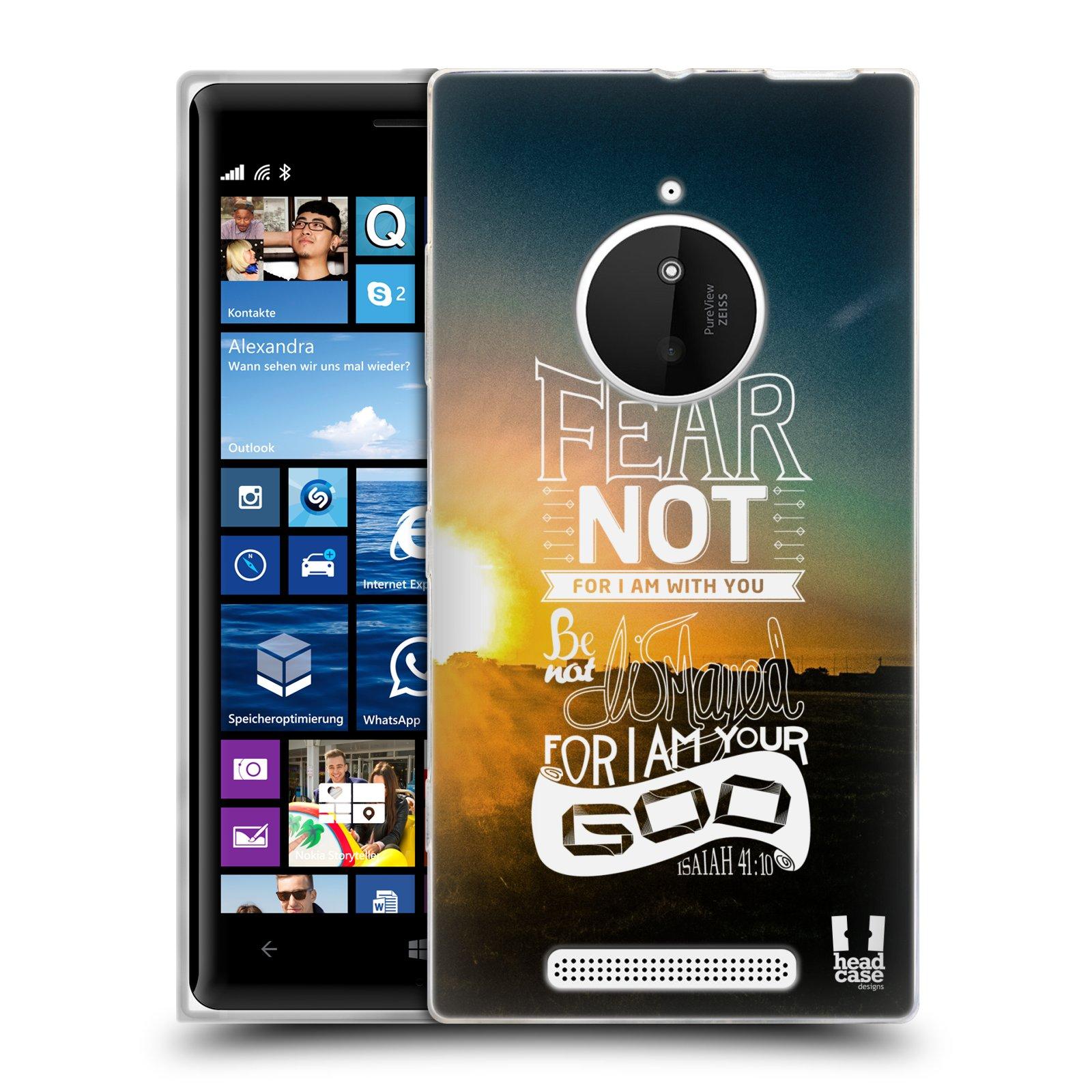 Silikonové pouzdro na mobil Nokia Lumia 830 HEAD CASE FEAR (Silikonový kryt či obal na mobilní telefon Nokia Lumia 830)