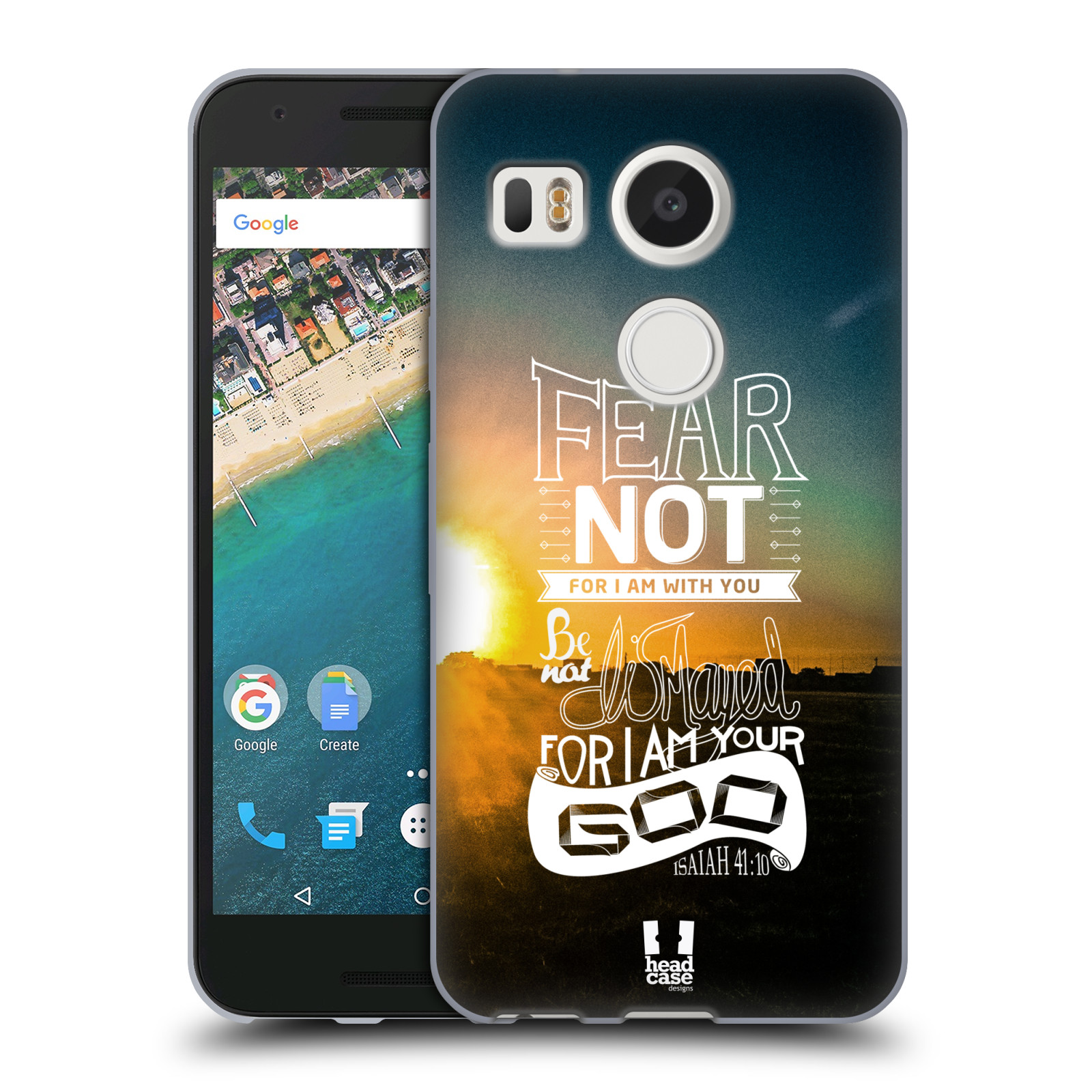Silikonové pouzdro na mobil LG Nexus 5X - Head Case - FEAR (Silikonový kryt či obal na mobilní telefon LG Nexus 5X)
