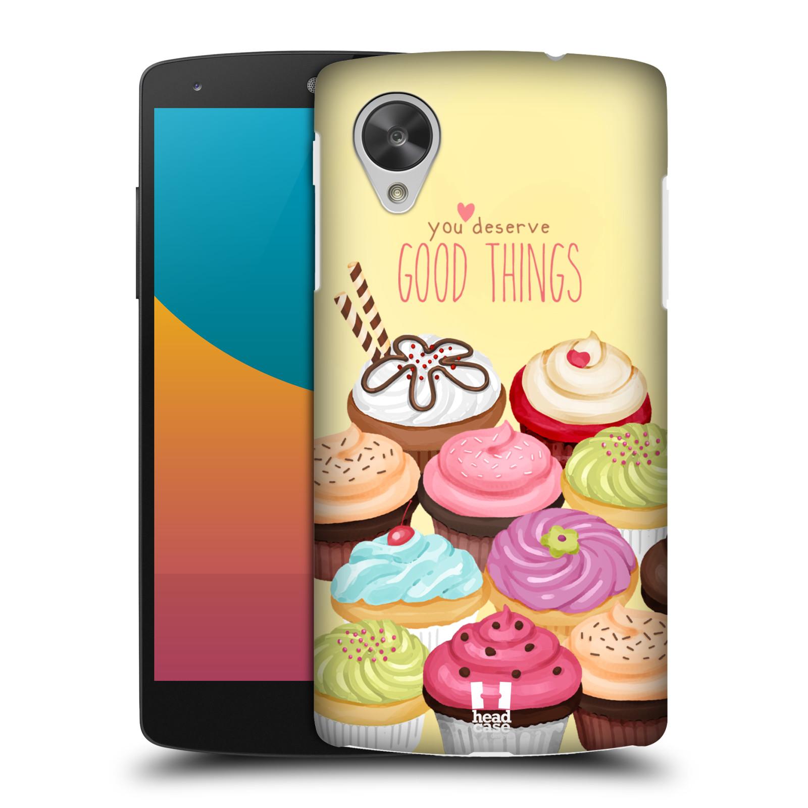 Plastové pouzdro na mobil LG Nexus 5 HEAD CASE CUPCAKE GOOD THINGS (Kryt či obal na mobilní telefon LG Google Nexus 5 D821)