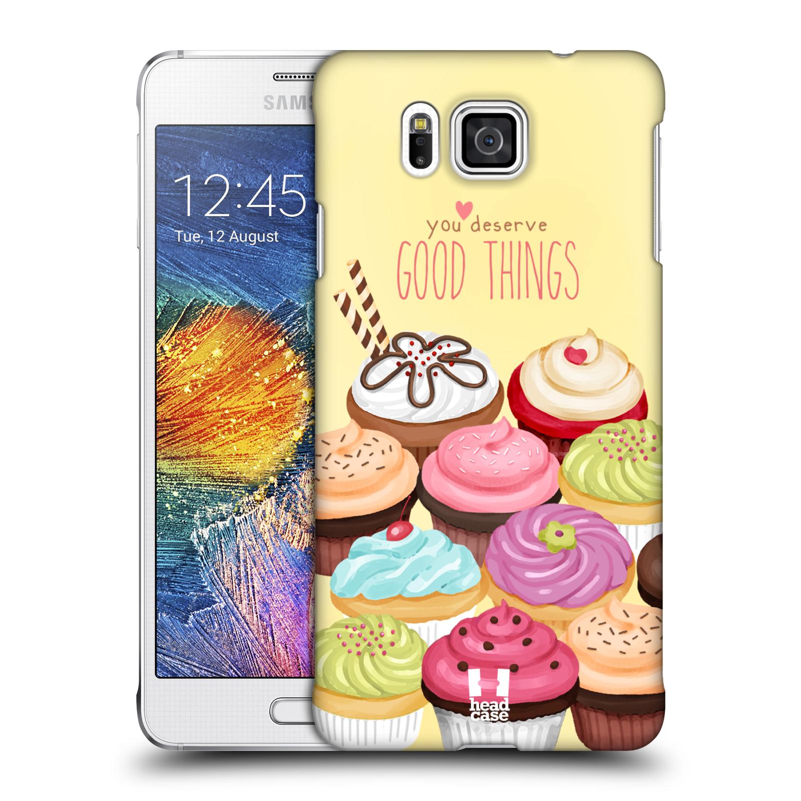 Plastové pouzdro na mobil Samsung Galaxy Alpha HEAD CASE CUPCAKE GOOD THINGS