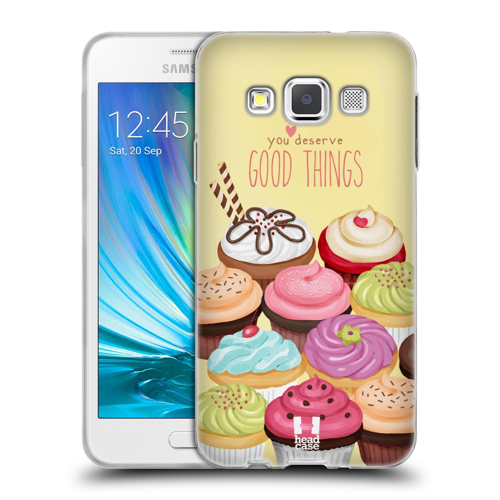 Silikonové pouzdro na mobil Samsung Galaxy A3 HEAD CASE CUPCAKE GOOD THINGS
