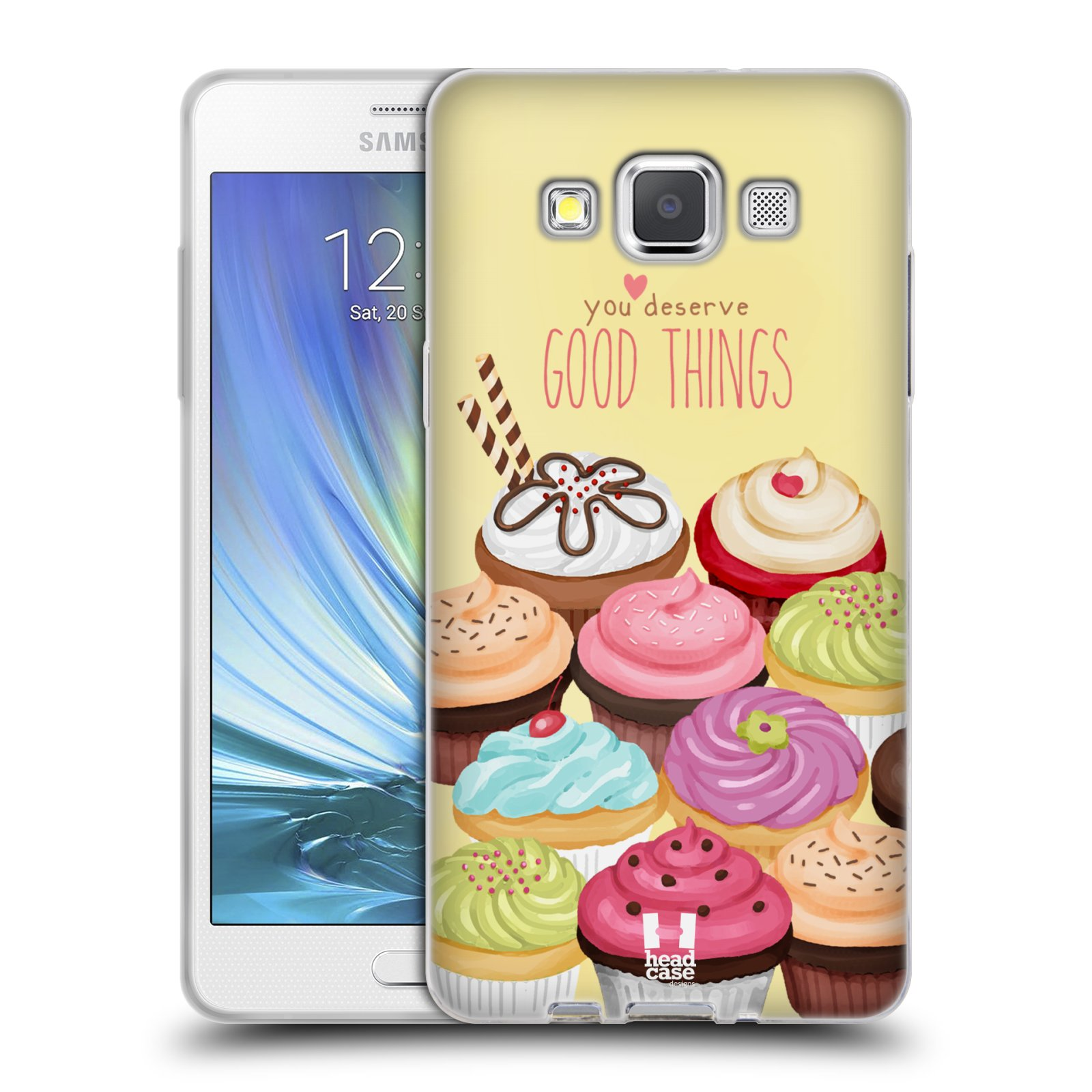 Silikonové pouzdro na mobil Samsung Galaxy A5 HEAD CASE CUPCAKE GOOD THINGS