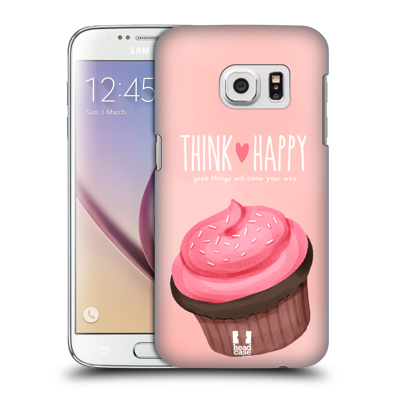 Plastové pouzdro na mobil Samsung Galaxy S7 HEAD CASE CUPCAKE THINK HAPPY