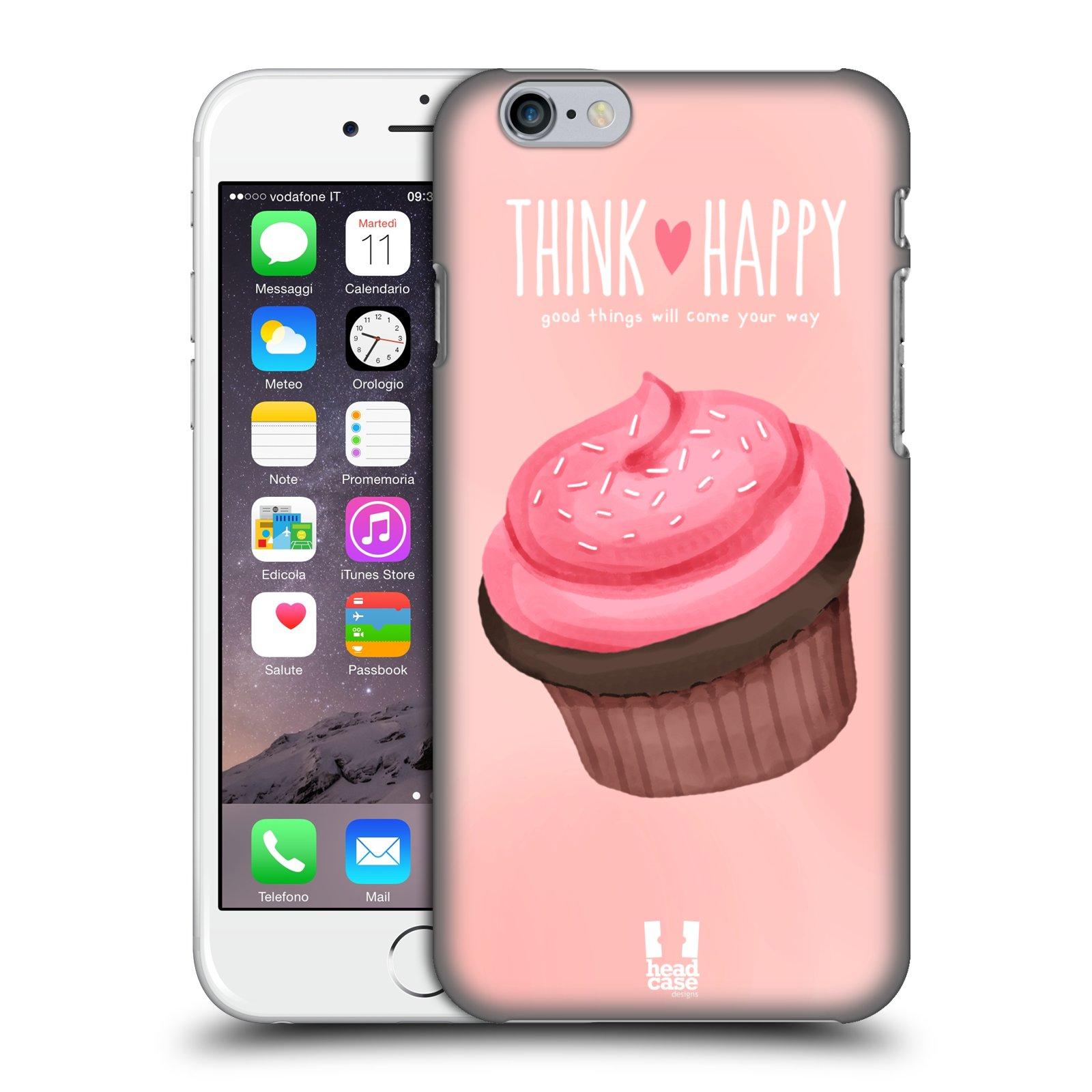 Plastové pouzdro na mobil Apple iPhone 6 a 6S HEAD CASE CUPCAKE THINK HAPPY