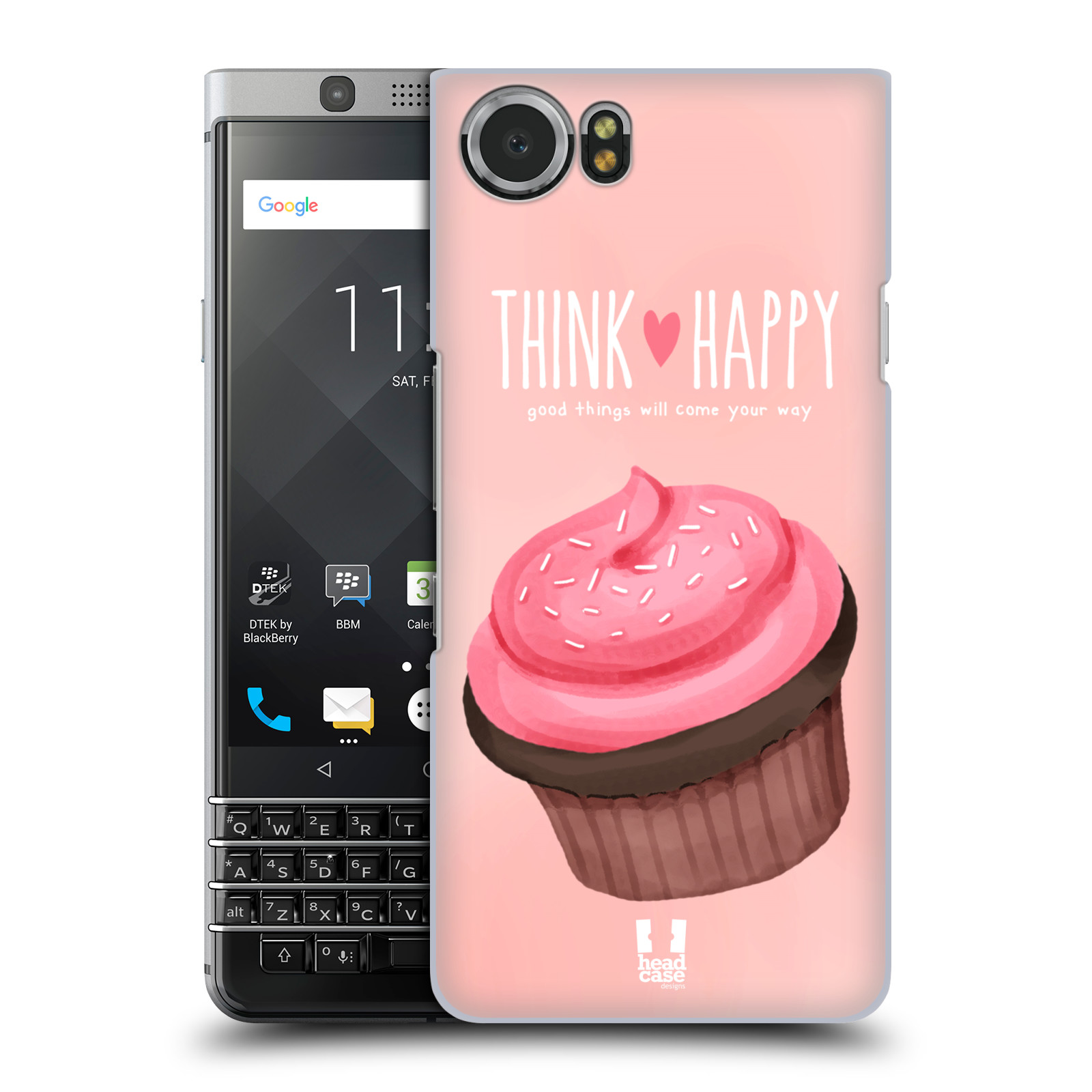 Plastové pouzdro na mobil BlackBerry KEYone - Head Case - CUPCAKE THINK HAPPY