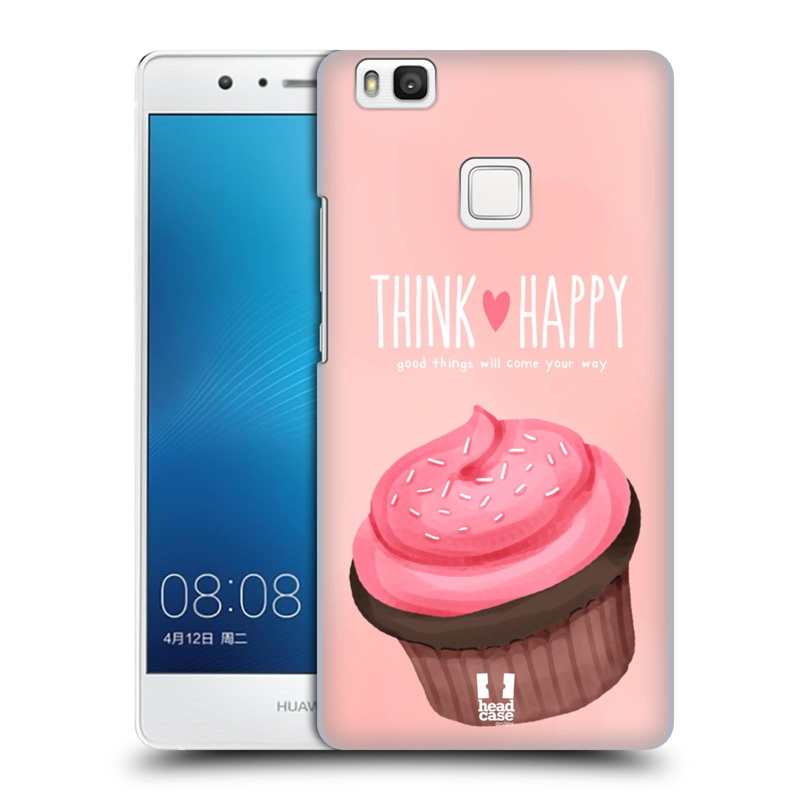 Plastové pouzdro na mobil Huawei P9 Lite HEAD CASE CUPCAKE THINK HAPPY