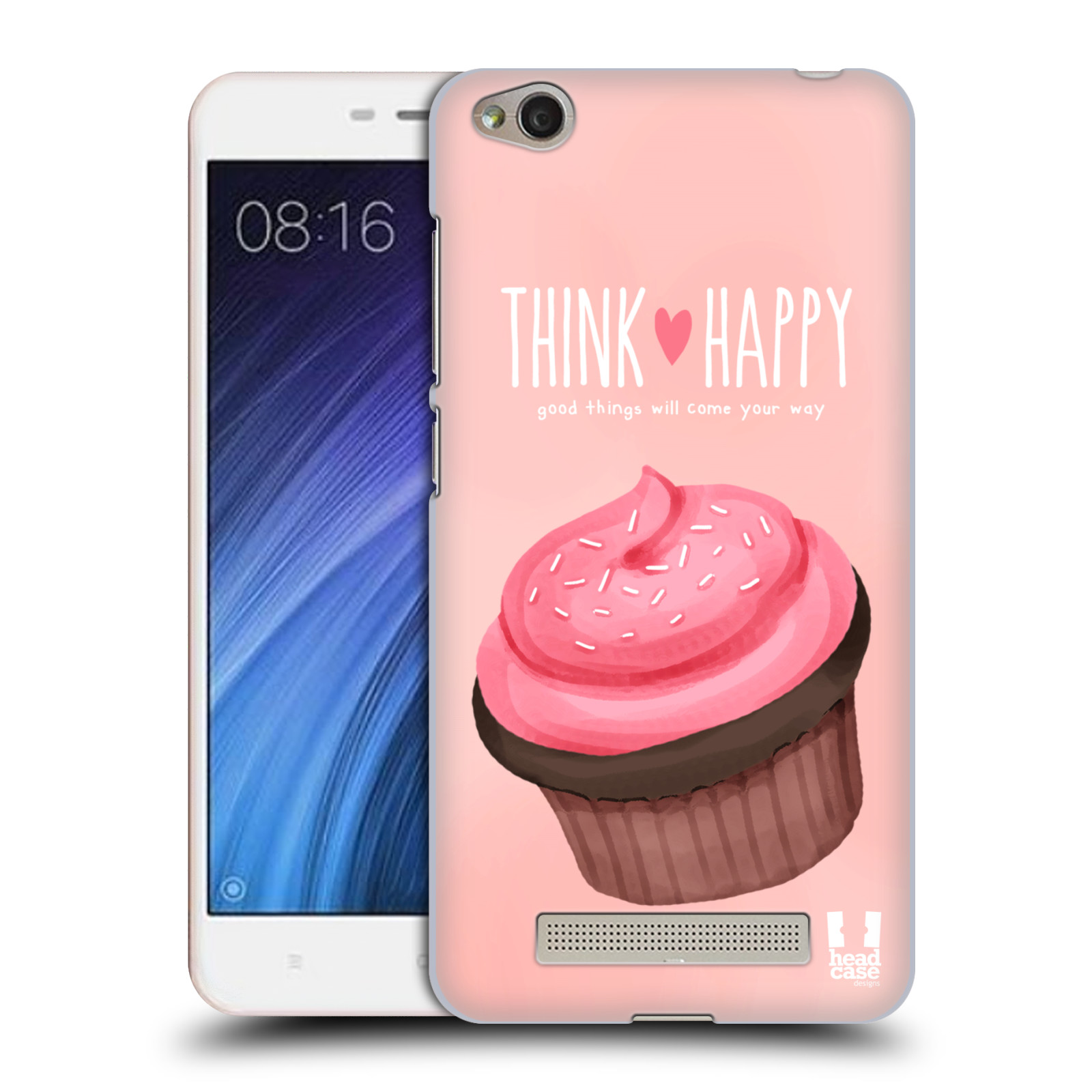 Plastové pouzdro na mobil Xiaomi Redmi 4A HEAD CASE CUPCAKE THINK HAPPY