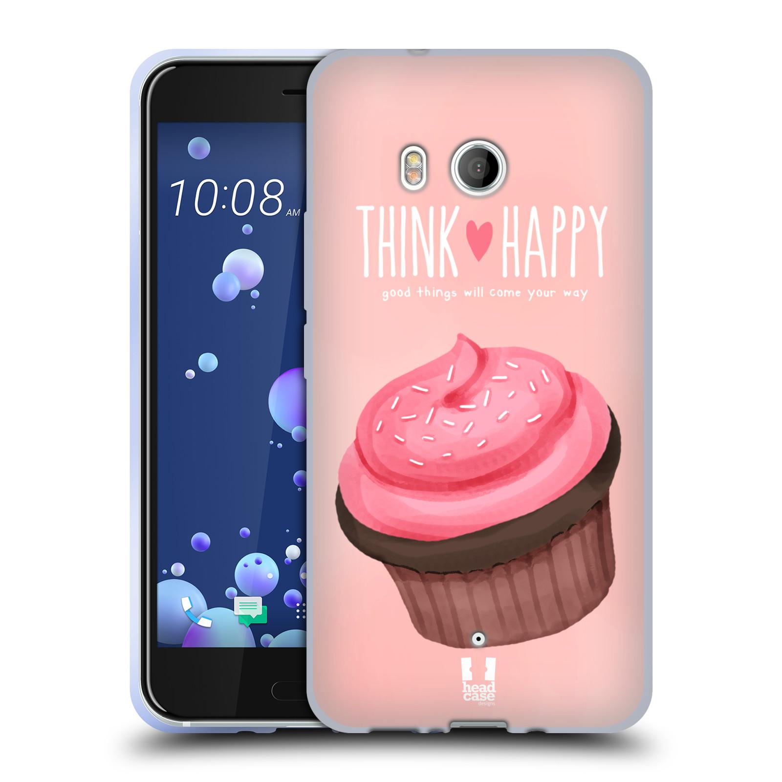 Silikonové pouzdro na mobil HTC U11 - Head Case - CUPCAKE THINK HAPPY
