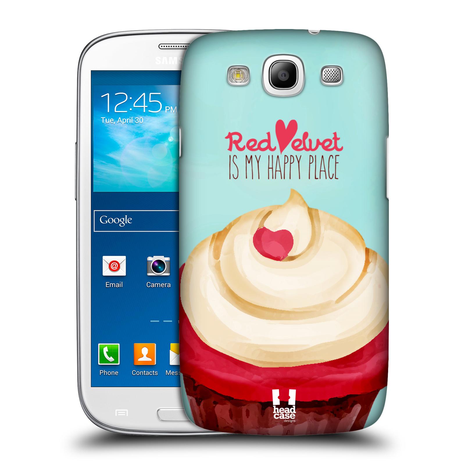 Plastové pouzdro na mobil Samsung Galaxy S III HEAD CASE CUPCAKE RED VELVET (Kryt či obal na mobilní telefon Samsung Galaxy S III GT-i9300)