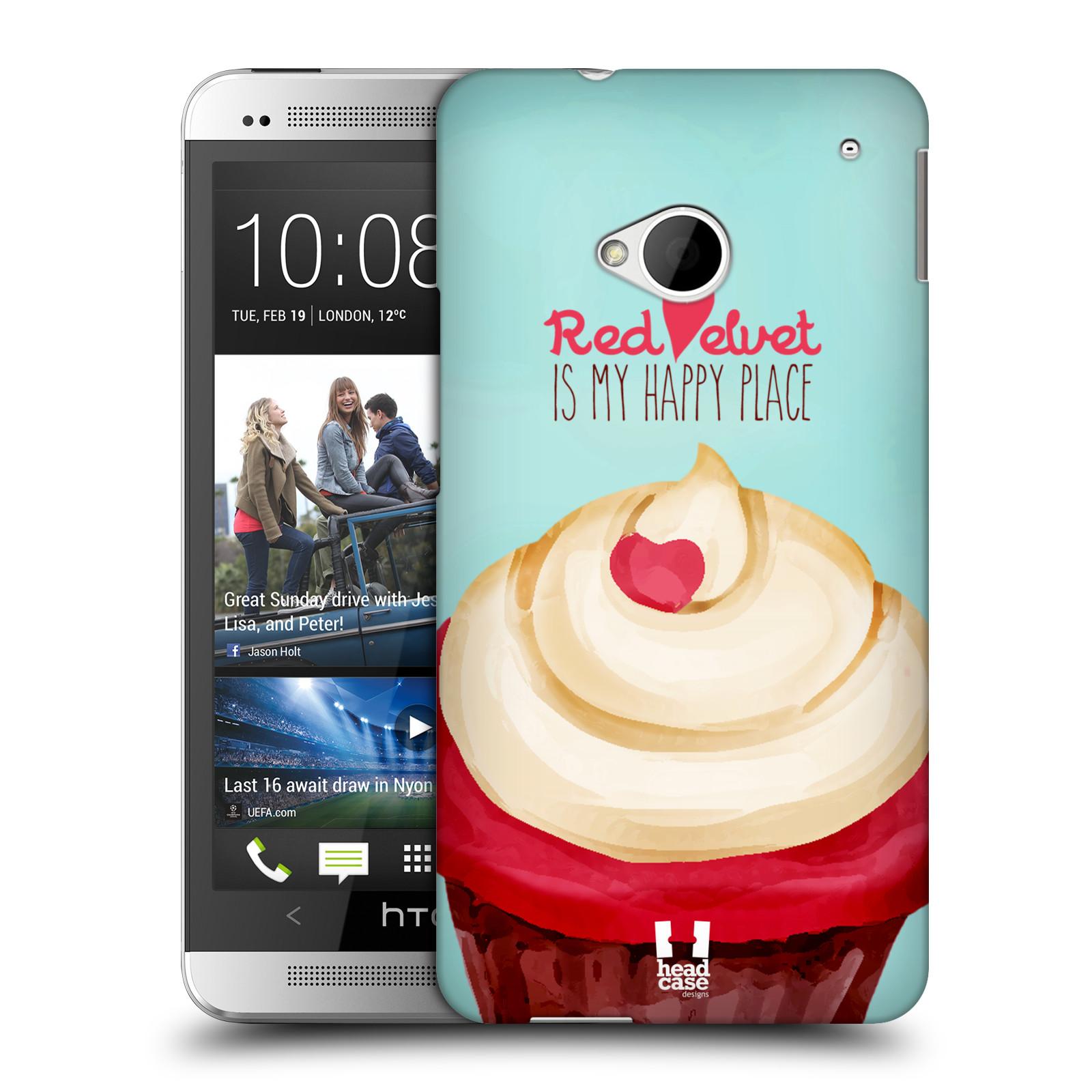 Plastové pouzdro na mobil HTC ONE M7 HEAD CASE CUPCAKE RED VELVET (Kryt či obal na mobilní telefon HTC ONE M7)