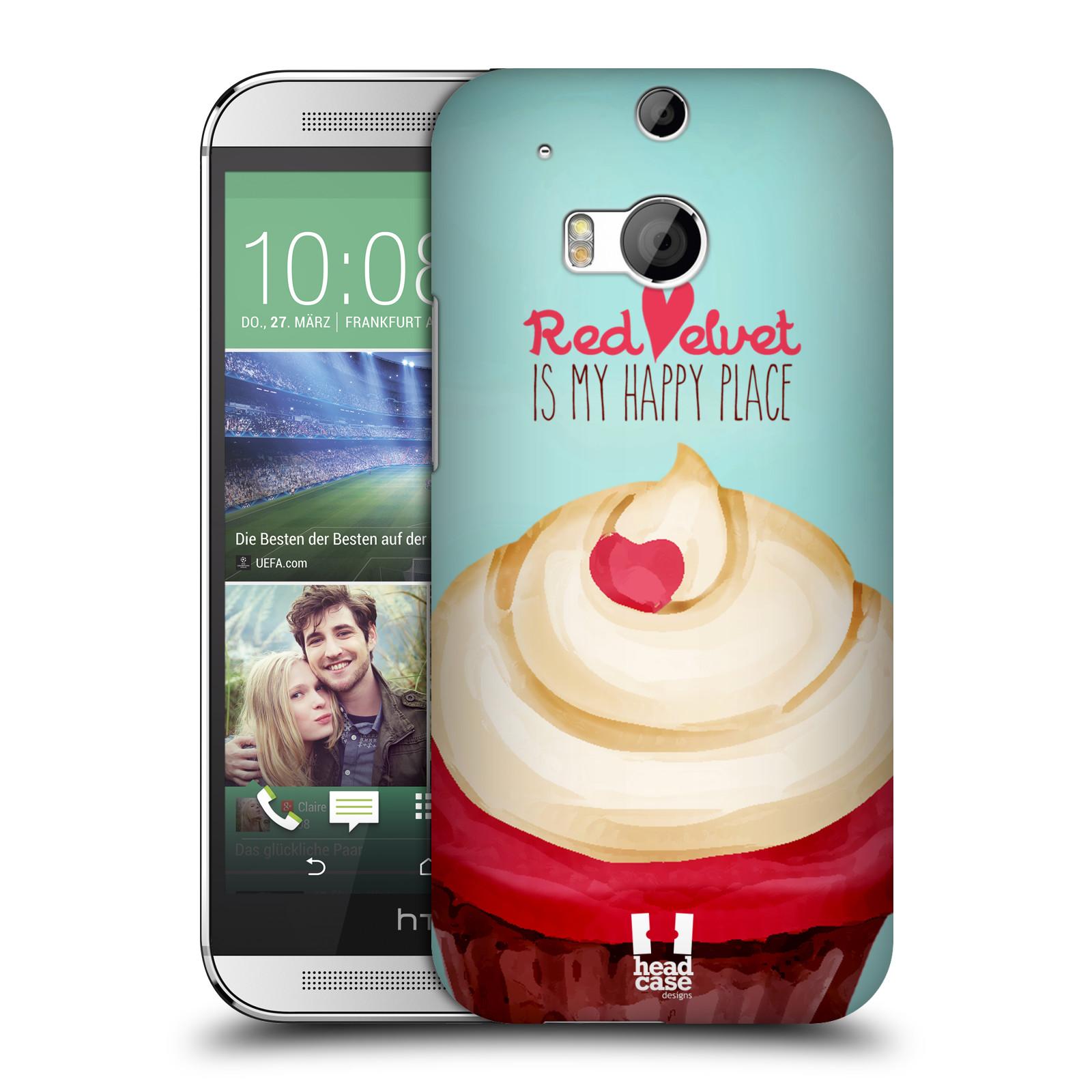 Plastové pouzdro na mobil HTC ONE M8 HEAD CASE CUPCAKE RED VELVET (Kryt či obal na mobilní telefon HTC ONE M8)