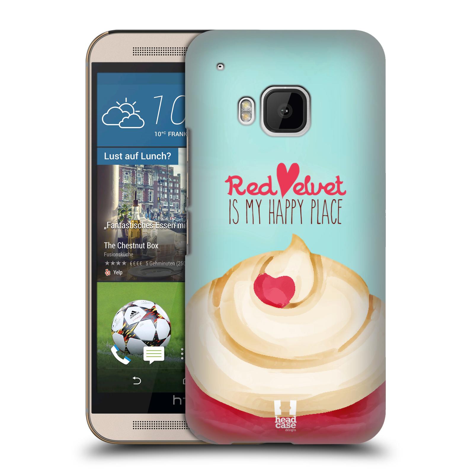 Plastové pouzdro na mobil HTC ONE M9 HEAD CASE CUPCAKE RED VELVET (Kryt či obal na mobilní telefon HTC ONE M9)