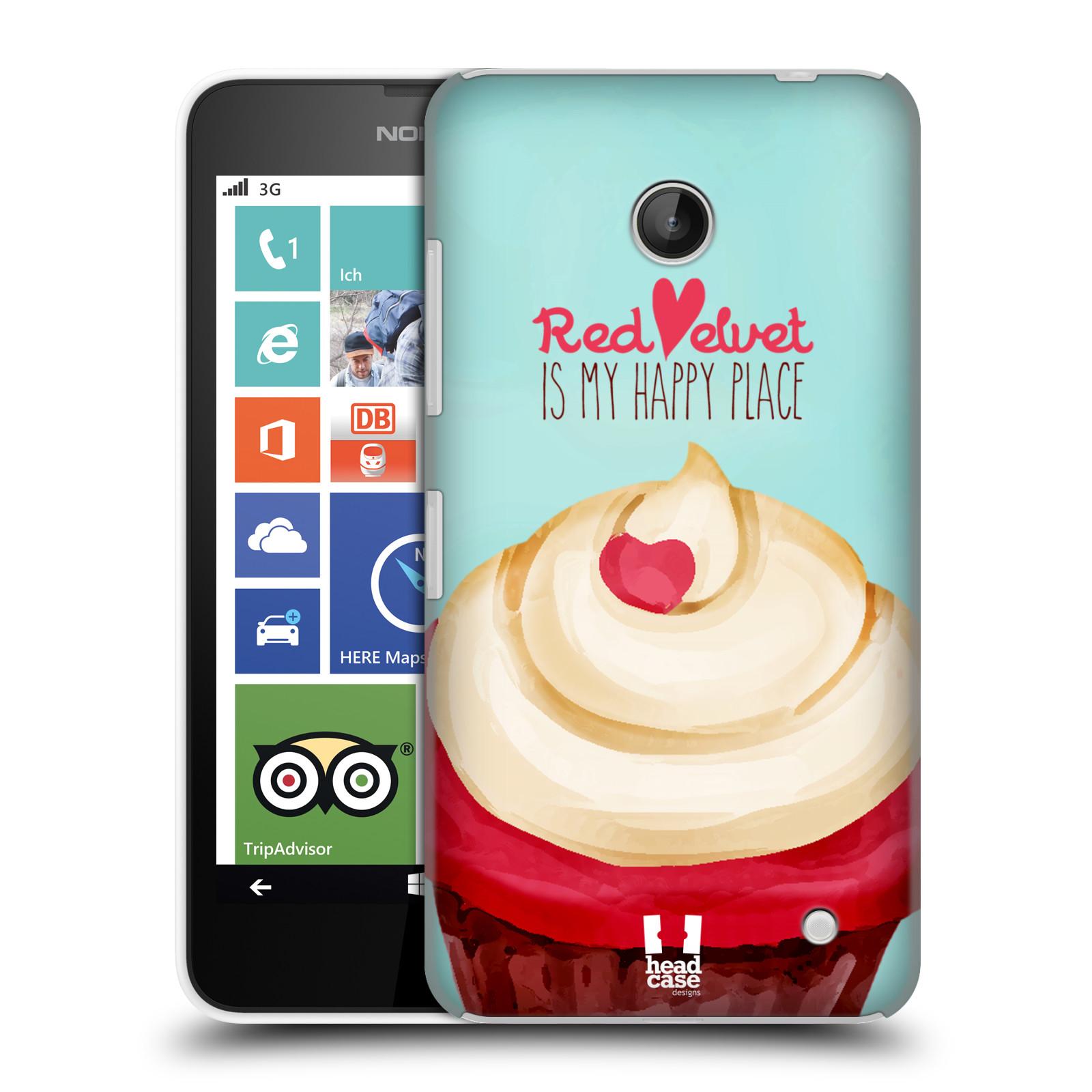 Plastové pouzdro na mobil Nokia Lumia 630 HEAD CASE CUPCAKE RED VELVET (Kryt či obal na mobilní telefon Nokia Lumia 630 a Nokia Lumia 630 Dual SIM)
