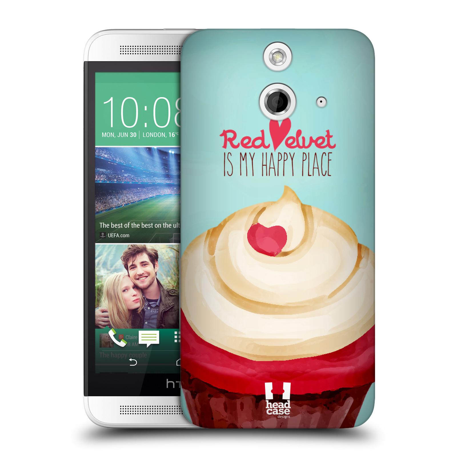 Plastové pouzdro na mobil HTC ONE E8 HEAD CASE CUPCAKE RED VELVET (Kryt či obal na mobilní telefon HTC ONE E8)