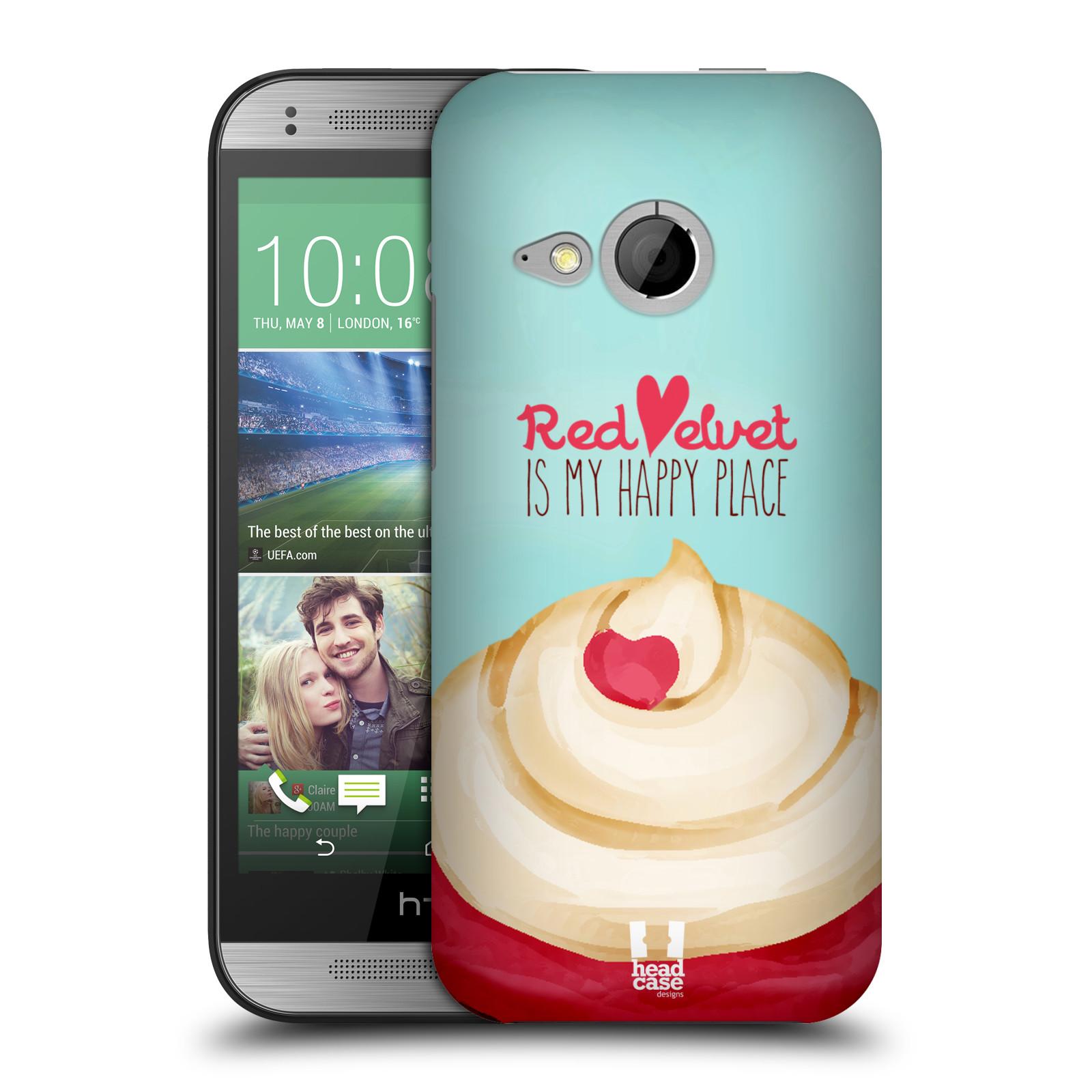 Plastové pouzdro na mobil HTC ONE Mini 2 HEAD CASE CUPCAKE RED VELVET (Kryt či obal na mobilní telefon HTC ONE Mini 2)