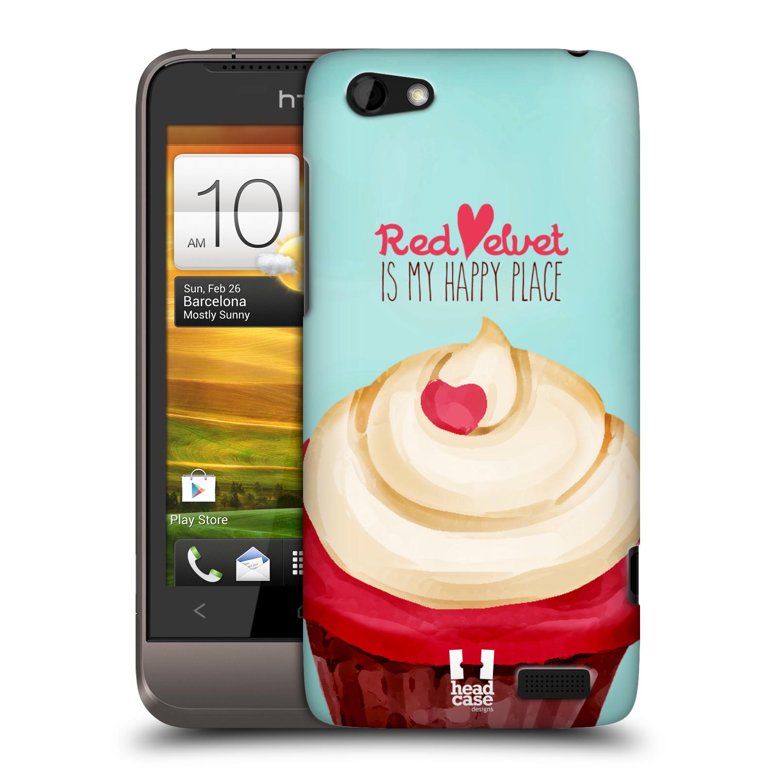 Plastové pouzdro na mobil HTC ONE V HEAD CASE CUPCAKE RED VELVET (Kryt či obal na mobilní telefon HTC ONE V)