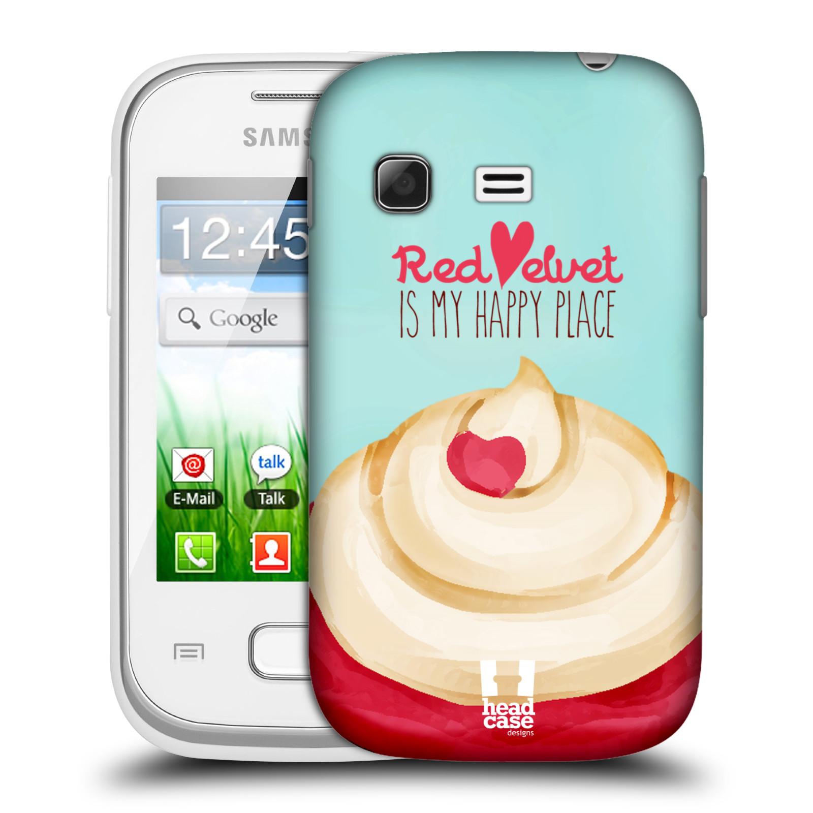 Plastové pouzdro na mobil Samsung Galaxy Pocket HEAD CASE CUPCAKE RED VELVET (Kryt či obal na mobilní telefon Samsung Galaxy Pocket GT-S5300)