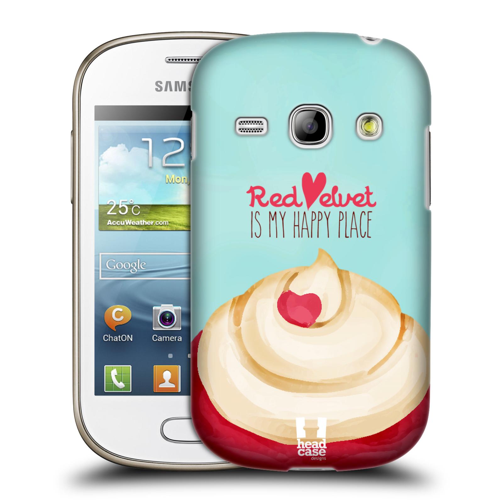 Plastové pouzdro na mobil Samsung Galaxy Fame HEAD CASE CUPCAKE RED VELVET (Kryt či obal na mobilní telefon Samsung Galaxy Fame GT-S6810)