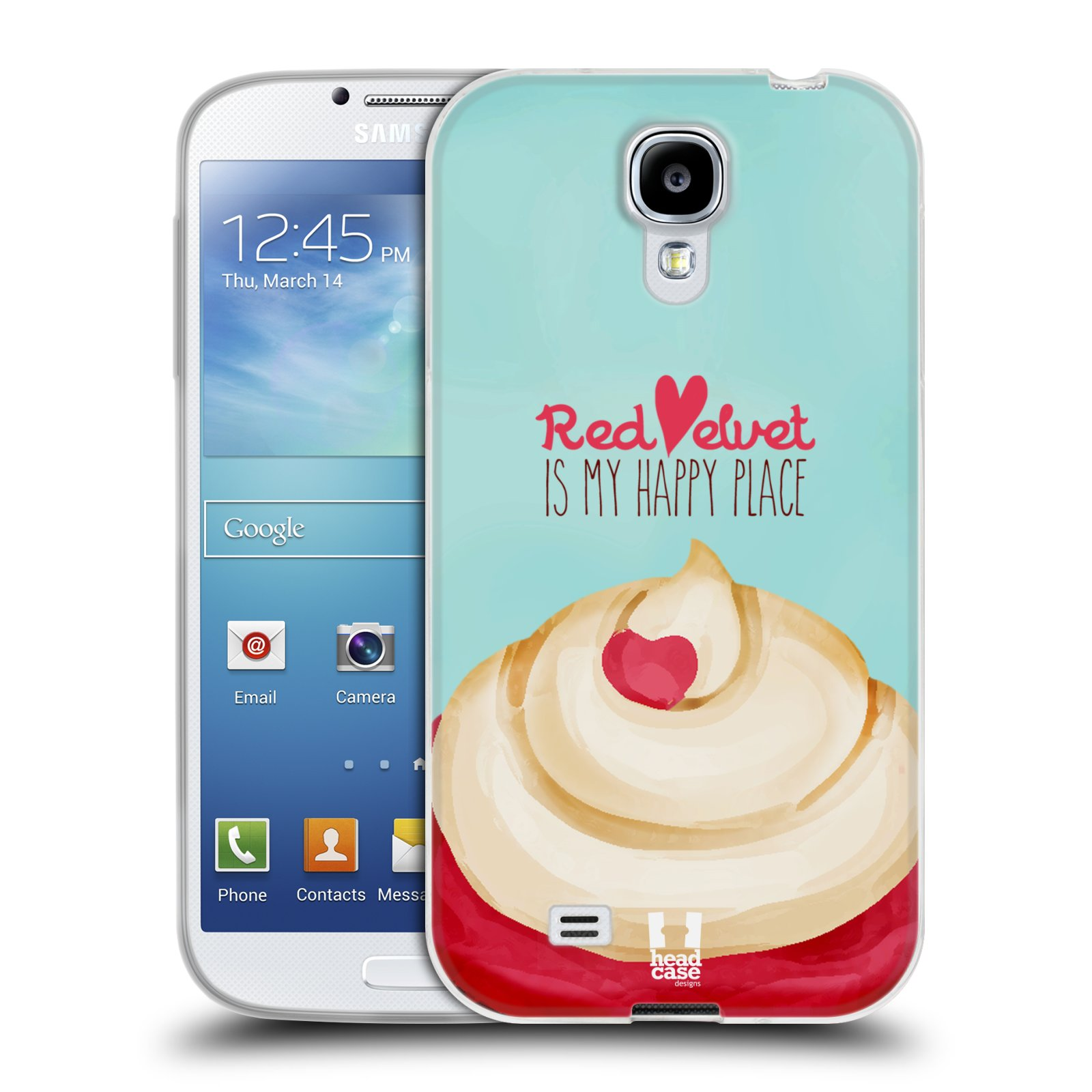 Silikonové pouzdro na mobil Samsung Galaxy S4 HEAD CASE CUPCAKE RED VELVET (Silikonový kryt či obal na mobilní telefon Samsung Galaxy S4 GT-i9505 / i9500)