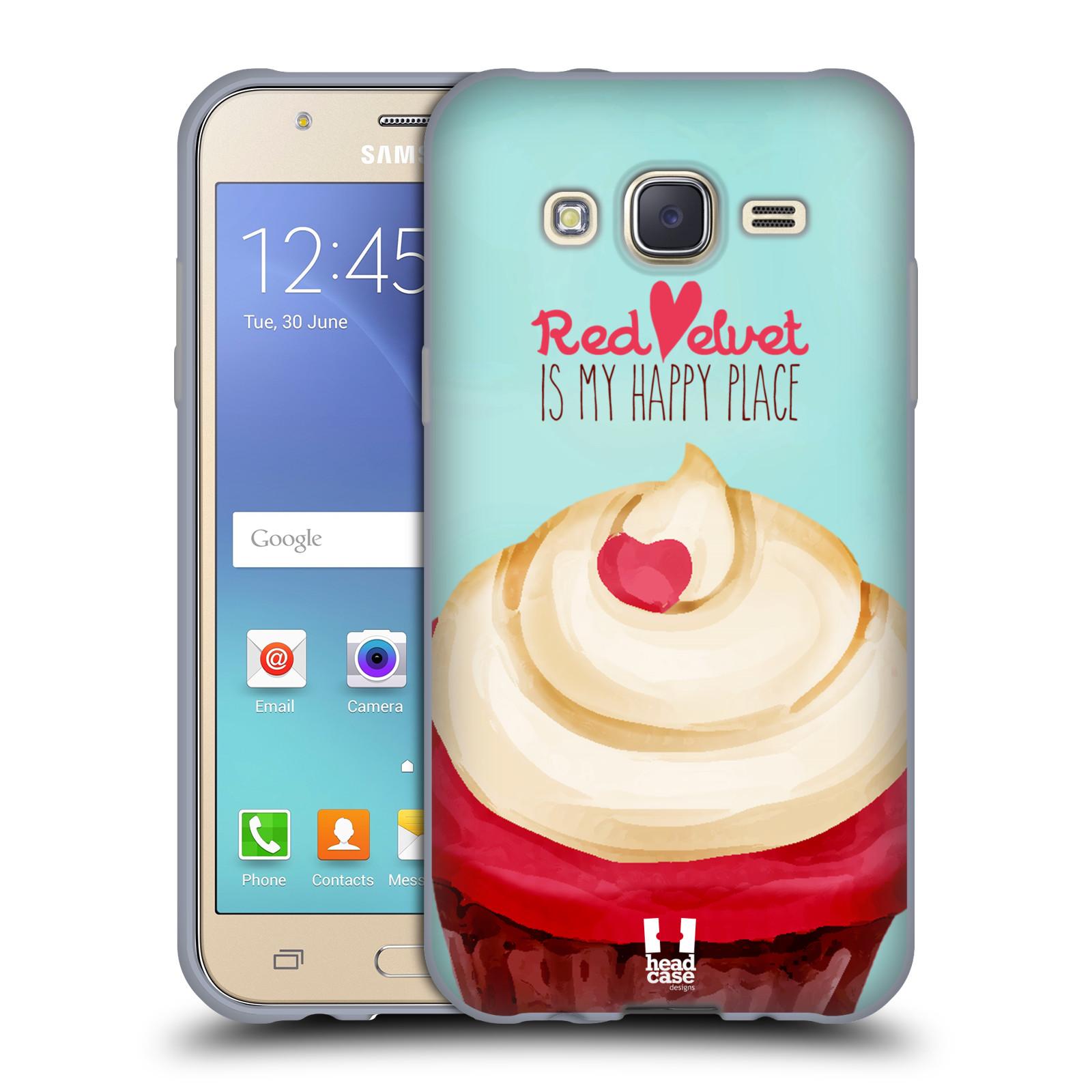 Silikonové pouzdro na mobil Samsung Galaxy J5 HEAD CASE CUPCAKE RED VELVET (Silikonový kryt či obal na mobilní telefon Samsung Galaxy Samsung Galaxy J5 SM-J500)