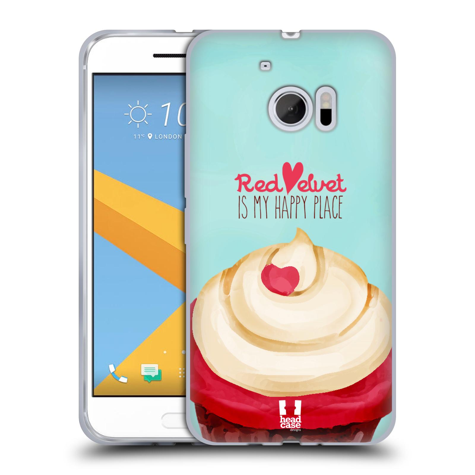 Silikonové pouzdro na mobil HTC 10 HEAD CASE CUPCAKE RED VELVET (Silikonový kryt či obal na mobilní telefon HTC 10 (HTC One M10))