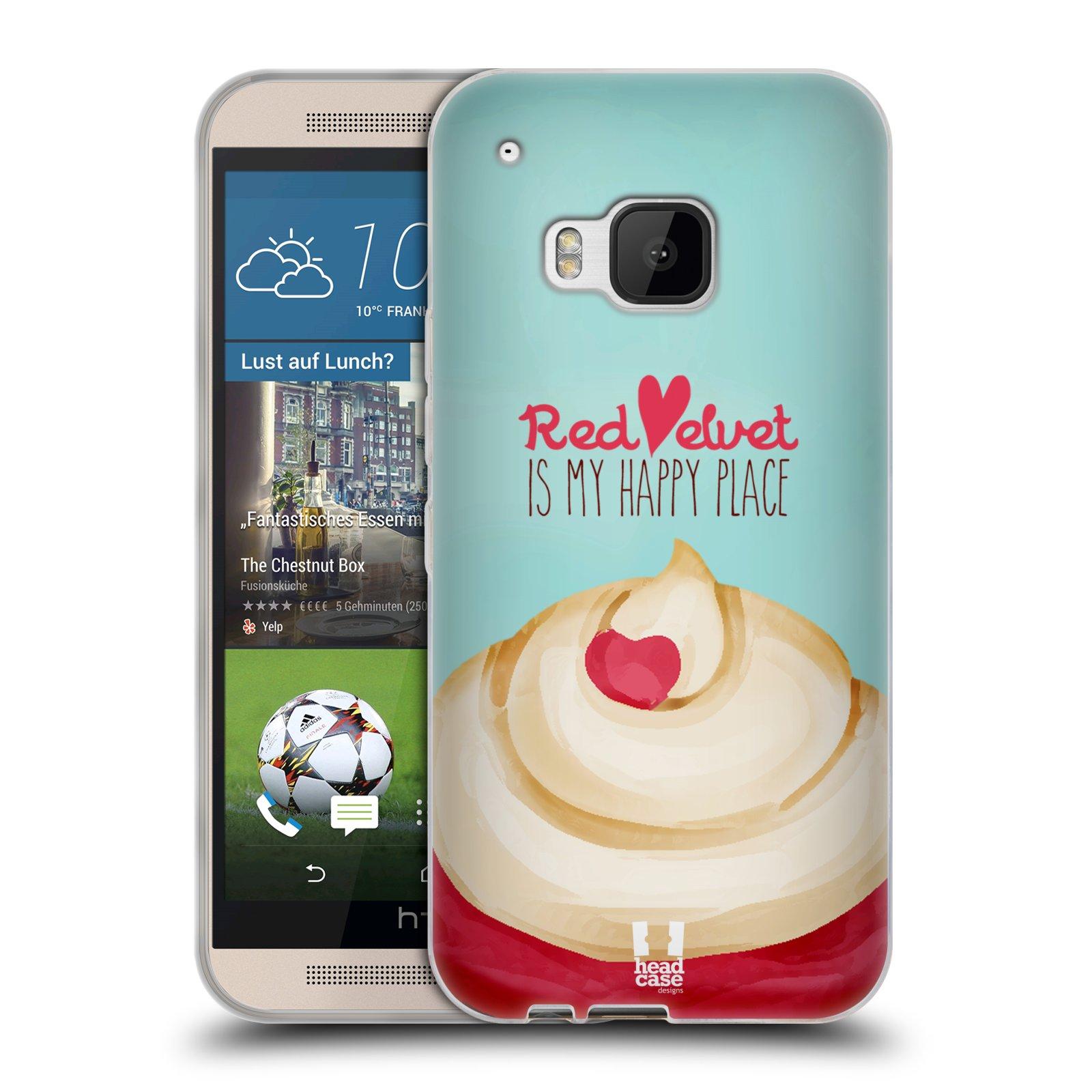 Silikonové pouzdro na mobil HTC ONE M9 HEAD CASE CUPCAKE RED VELVET (Silikonový kryt či obal na mobilní telefon HTC ONE M9)