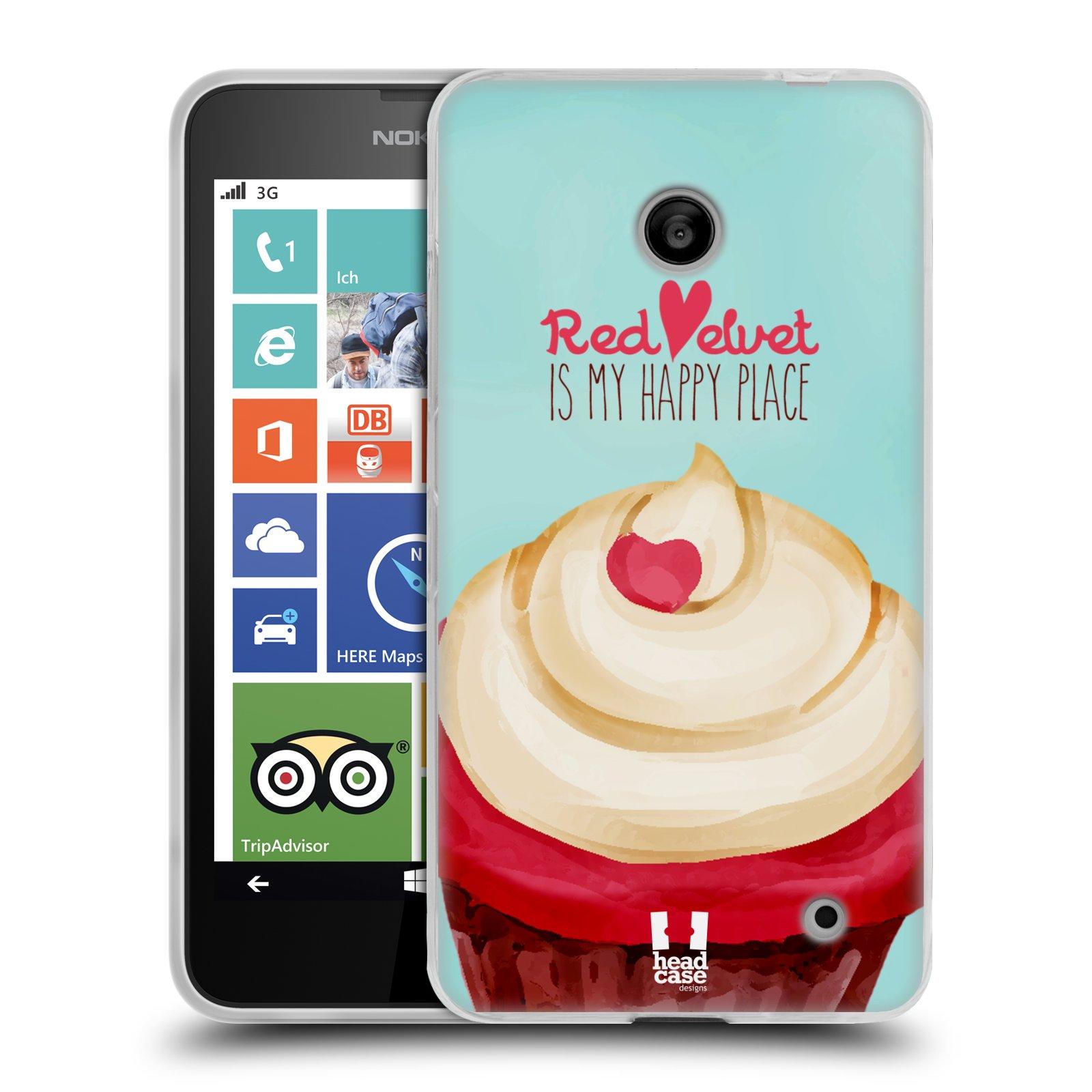 Silikonové pouzdro na mobil Nokia Lumia 630 HEAD CASE CUPCAKE RED VELVET (Silikonový kryt či obal na mobilní telefon Nokia Lumia 630 a Nokia Lumia 630 Dual SIM)