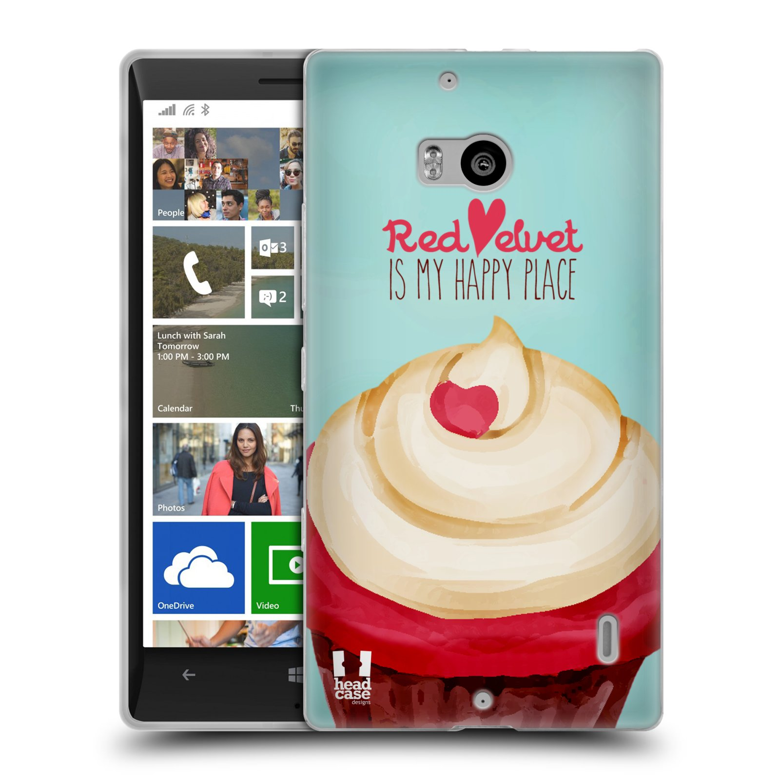 Silikonové pouzdro na mobil Nokia Lumia 930 HEAD CASE CUPCAKE RED VELVET (Silikonový kryt či obal na mobilní telefon Nokia Lumia 930)