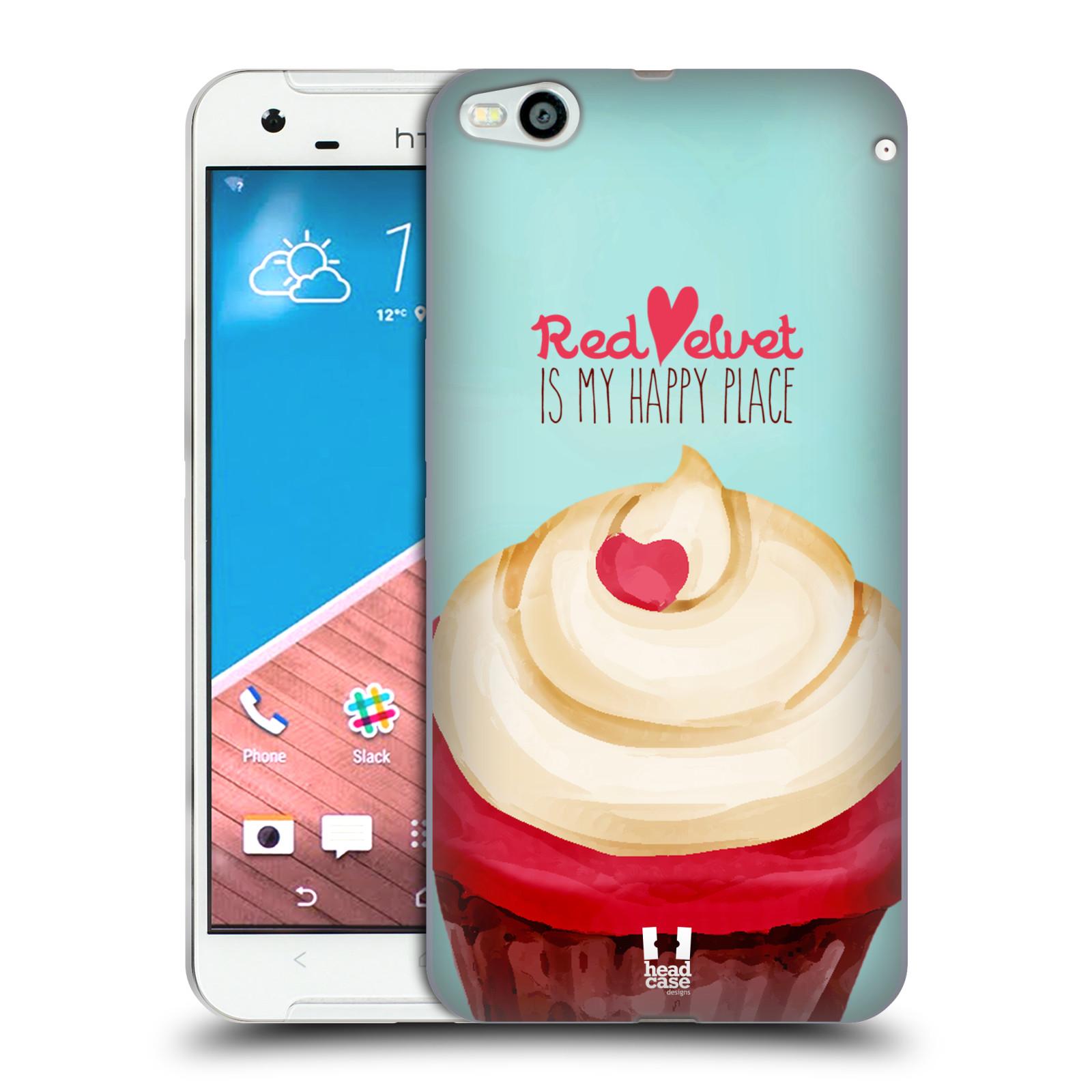 Silikonové pouzdro na mobil HTC One X9 HEAD CASE CUPCAKE RED VELVET (Silikonový kryt či obal na mobilní telefon HTC One X9)