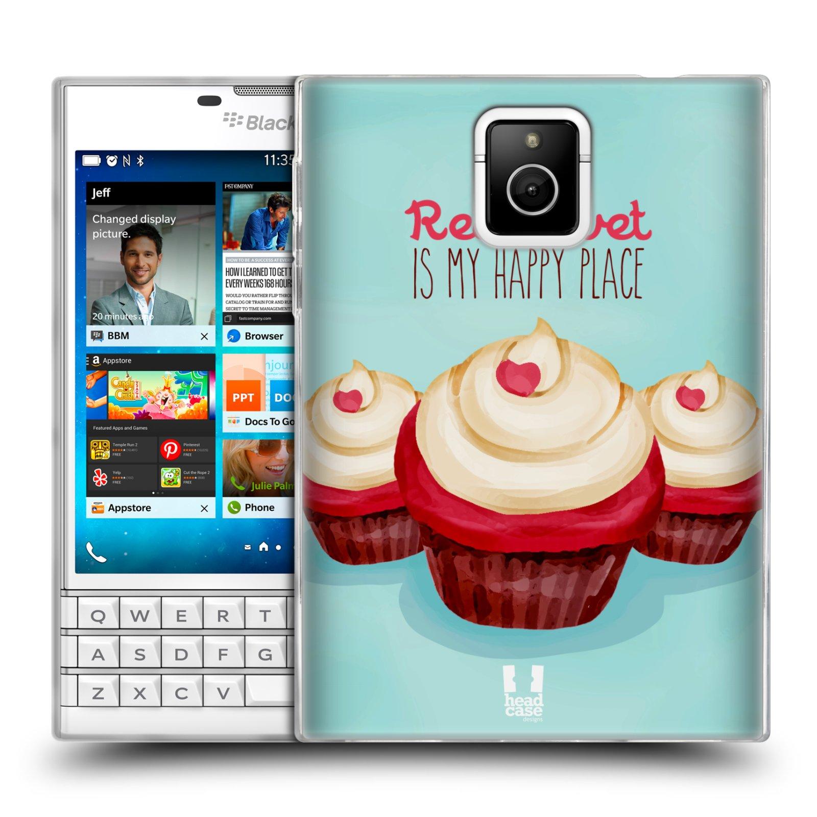 Silikonové pouzdro na mobil Blackberry PASSPORT HEAD CASE CUPCAKE RED VELVET (Silikonový kryt či obal na mobilní telefon Blackberry PASSPORT)