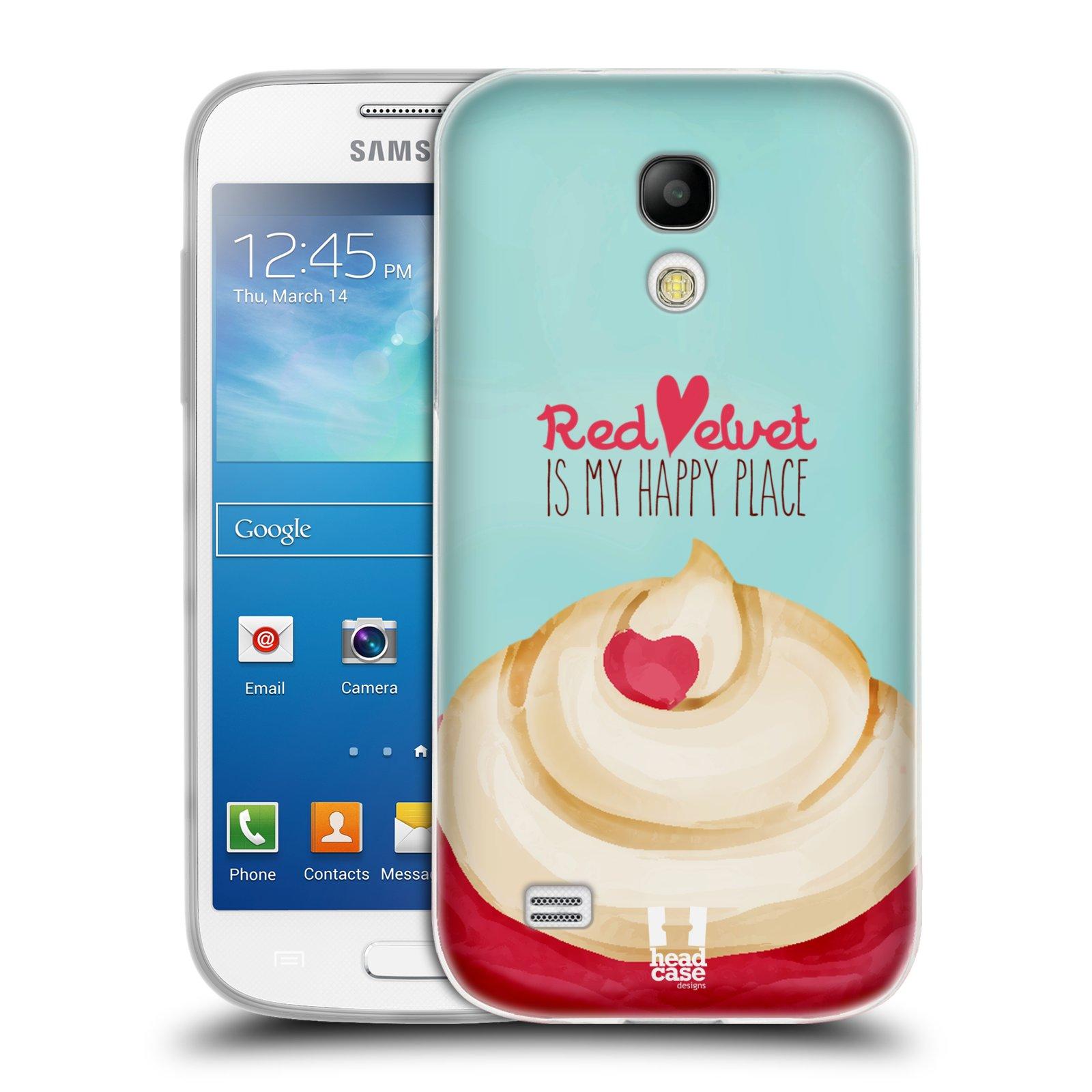 Silikonové pouzdro na mobil Samsung Galaxy S4 Mini HEAD CASE CUPCAKE RED VELVET (Silikonový kryt či obal na mobilní telefon Samsung Galaxy S4 Mini GT-i9195 / i9190 (nepasuje na verzi Black Edition))