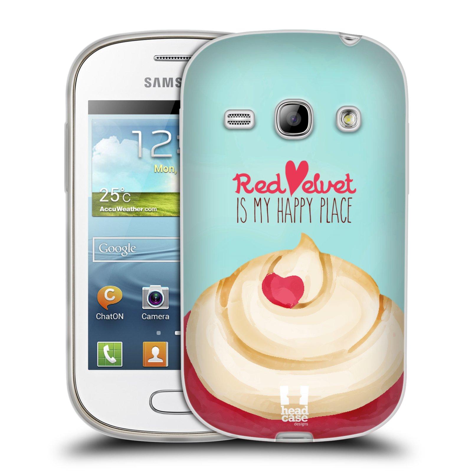 Silikonové pouzdro na mobil Samsung Galaxy Fame HEAD CASE CUPCAKE RED VELVET (Silikonový kryt či obal na mobilní telefon Samsung Galaxy Fame GT-S6810)