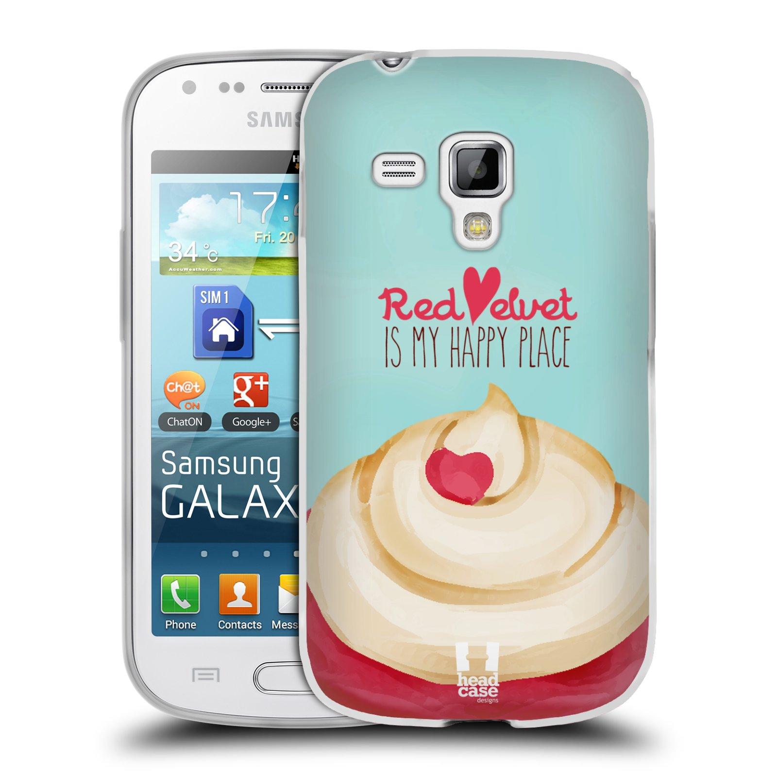 Silikonové pouzdro na mobil Samsung Galaxy Trend HEAD CASE CUPCAKE RED VELVET (Silikonový kryt či obal na mobilní telefon Samsung Galaxy Trend GT-S7560)