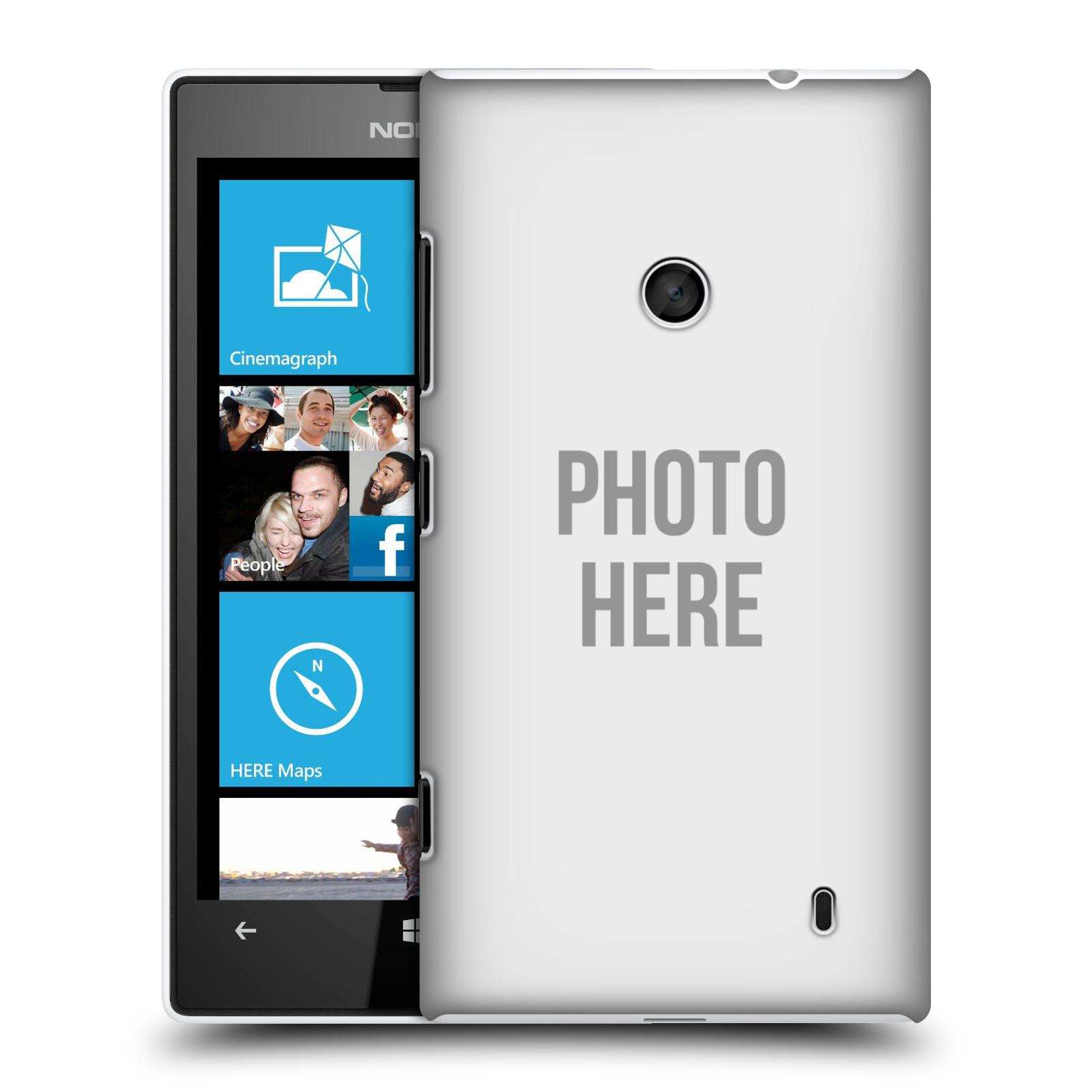 Plastové pouzdro na mobil Nokia Lumia 520 HEAD CASE s vlastním motivem (Kryt či obal s vlastní fotografií na mobilní telefon Nokia Lumia 520 )