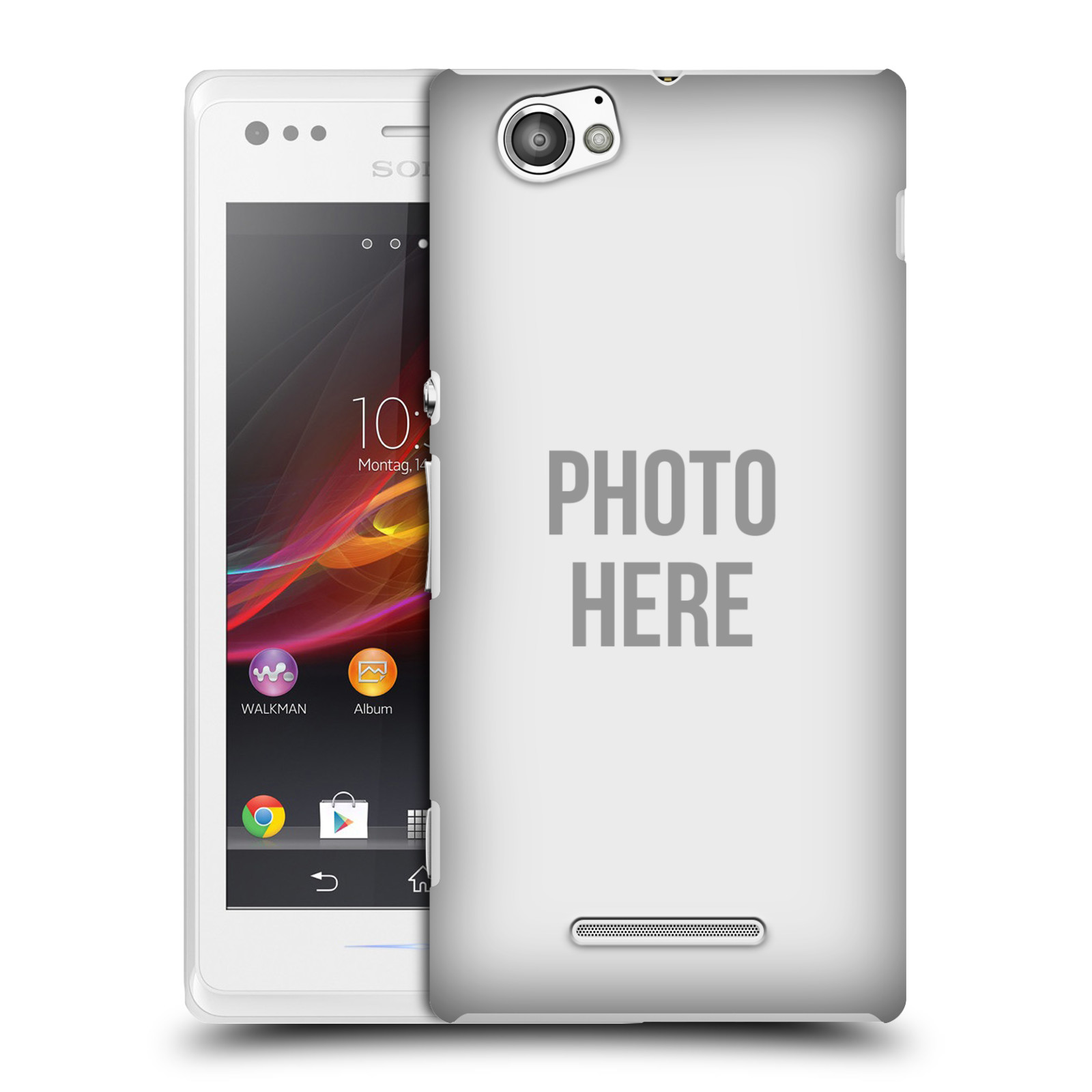 Plastové pouzdro na mobil Sony Xperia M C1905 HEAD CASE s vlastním motivem