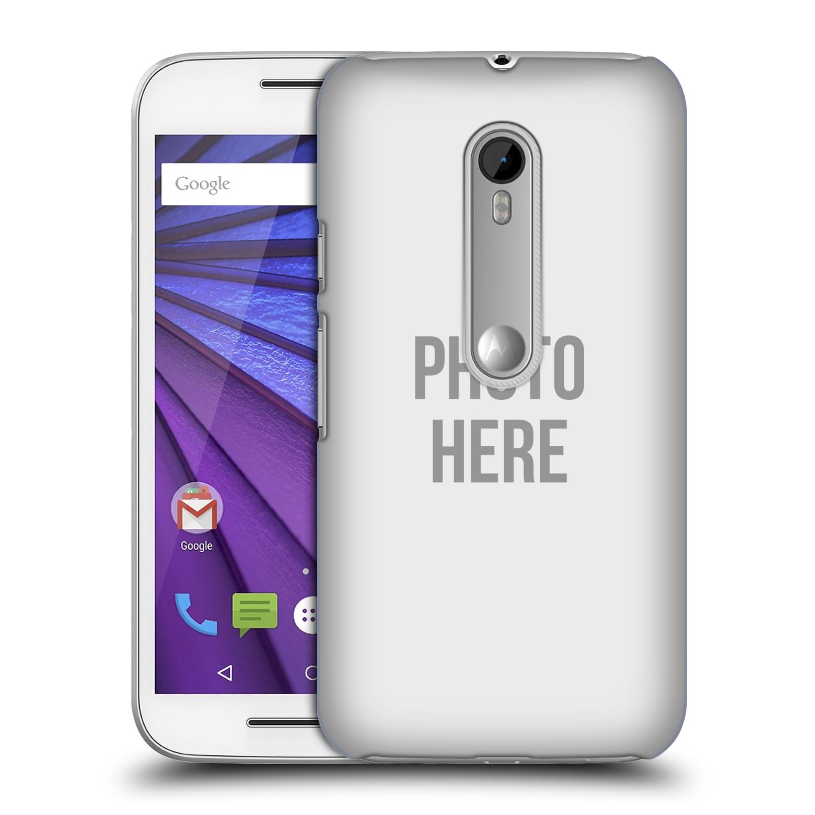 Plastové pouzdro na mobil Motorola Moto G 3RD GENERATION HEAD CASE s vlastním motivem