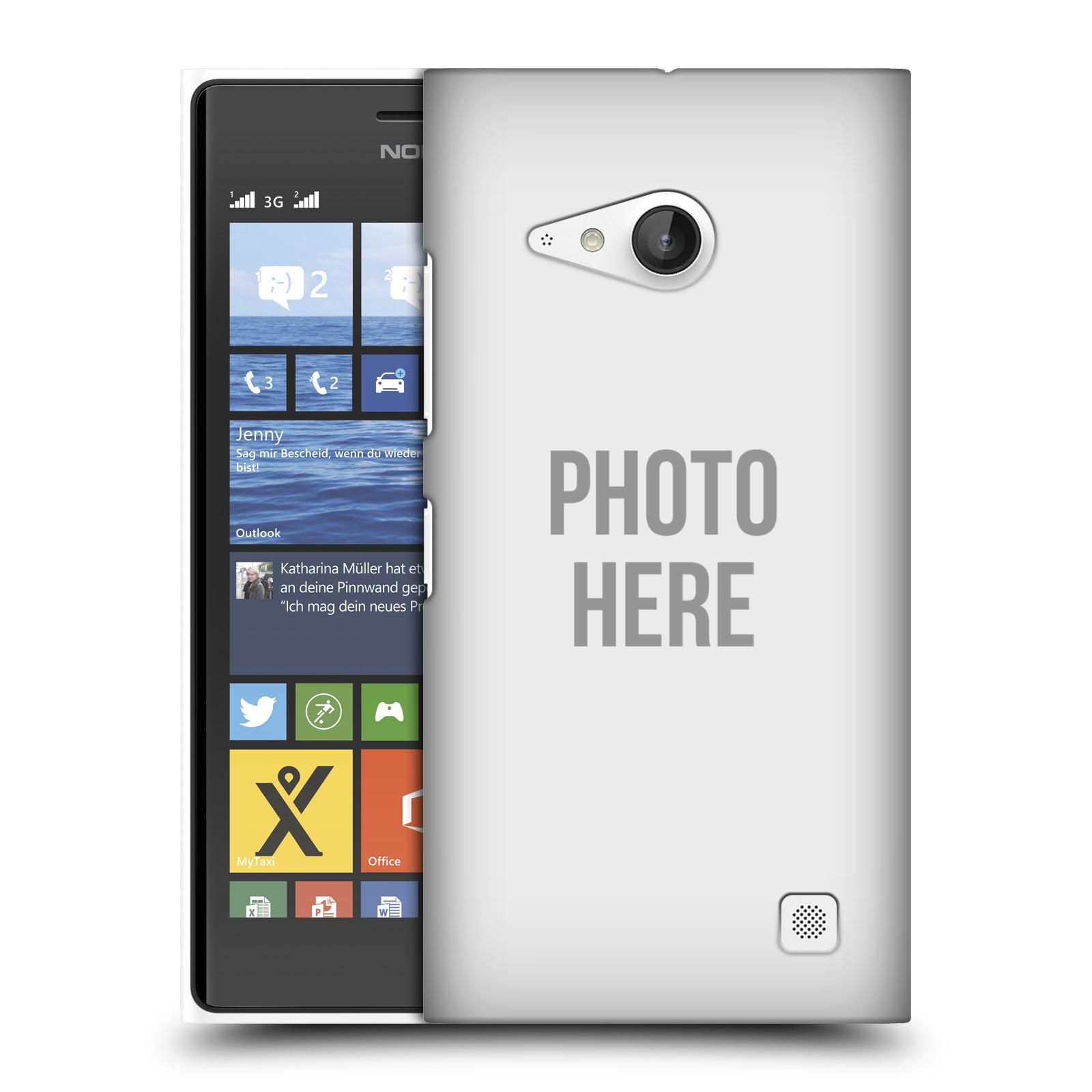 Plastové pouzdro na mobil Nokia Lumia 735 HEAD CASE s vlastním motivem (Kryt či obal s vlastní fotografií na mobilní telefon Nokia Lumia 735)