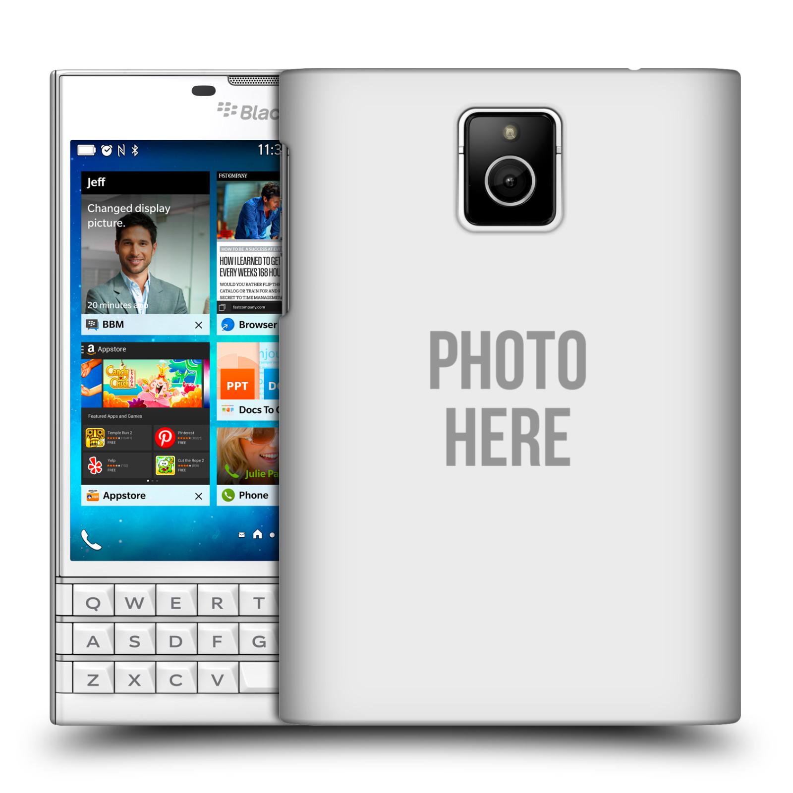 Plastové pouzdro na mobil Blackberry PASSPORT HEAD CASE s vlastním motivem (Kryt či obal s vlastní fotografií na mobilní telefon Blackberry PASSPORT)