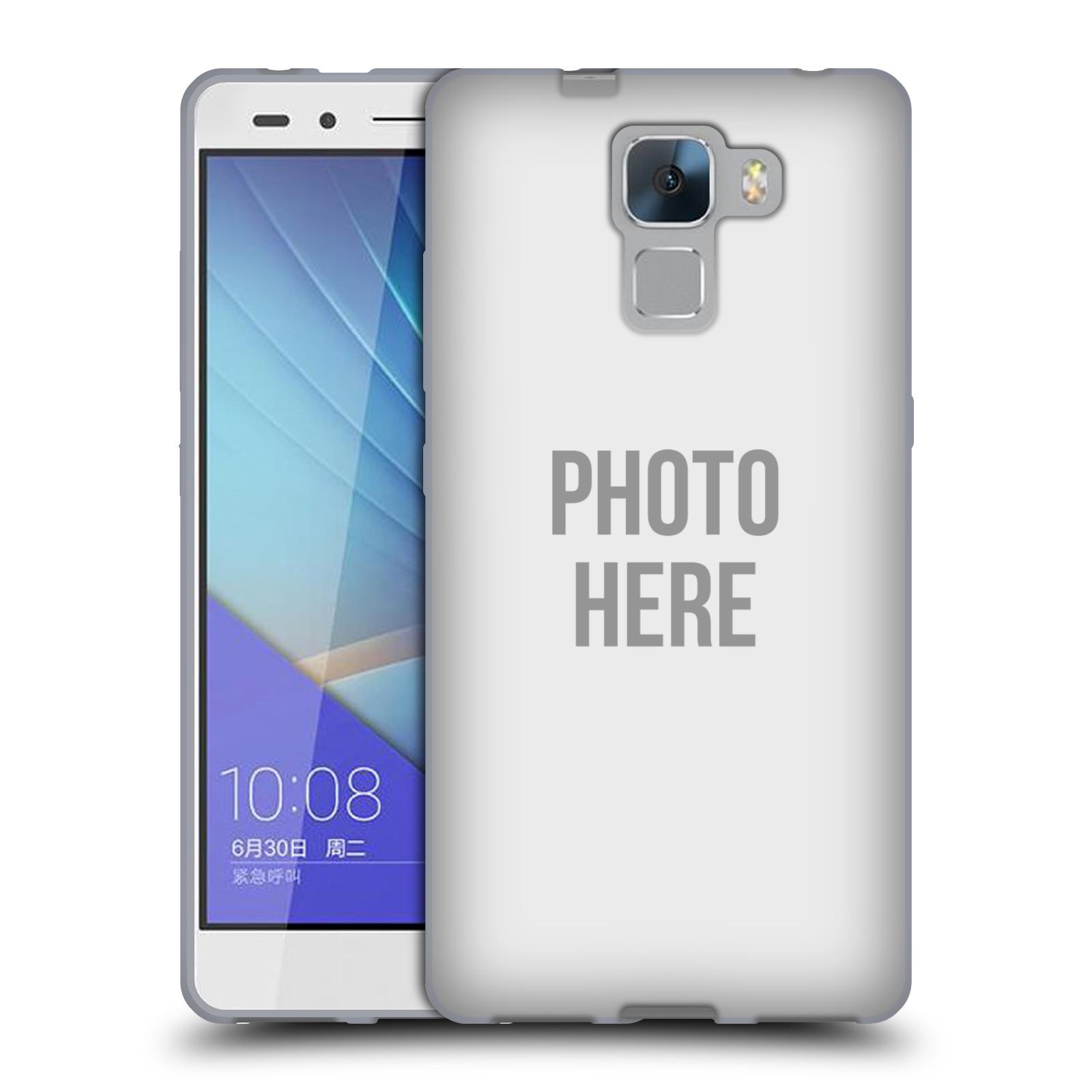 Silikonové pouzdro na mobil Honor 7 HEAD CASE s vlastním motivem