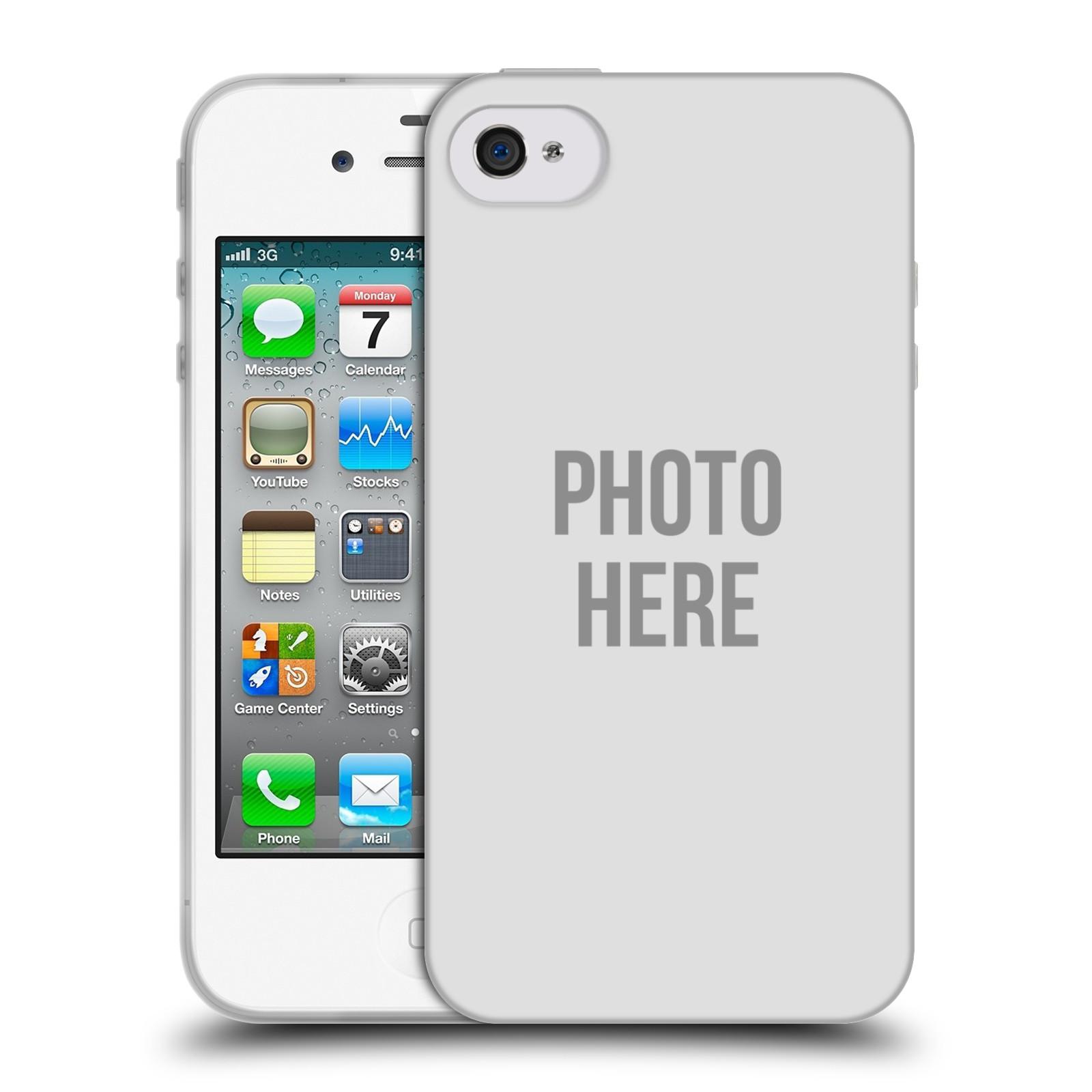 Silikonové pouzdro na mobil Apple iPhone 4 a 4S HEAD CASE s vlastním motivem (Silikonový kryt či obal s vlastní fotografií na mobilní telefon Apple iPhone 4 a 4S)