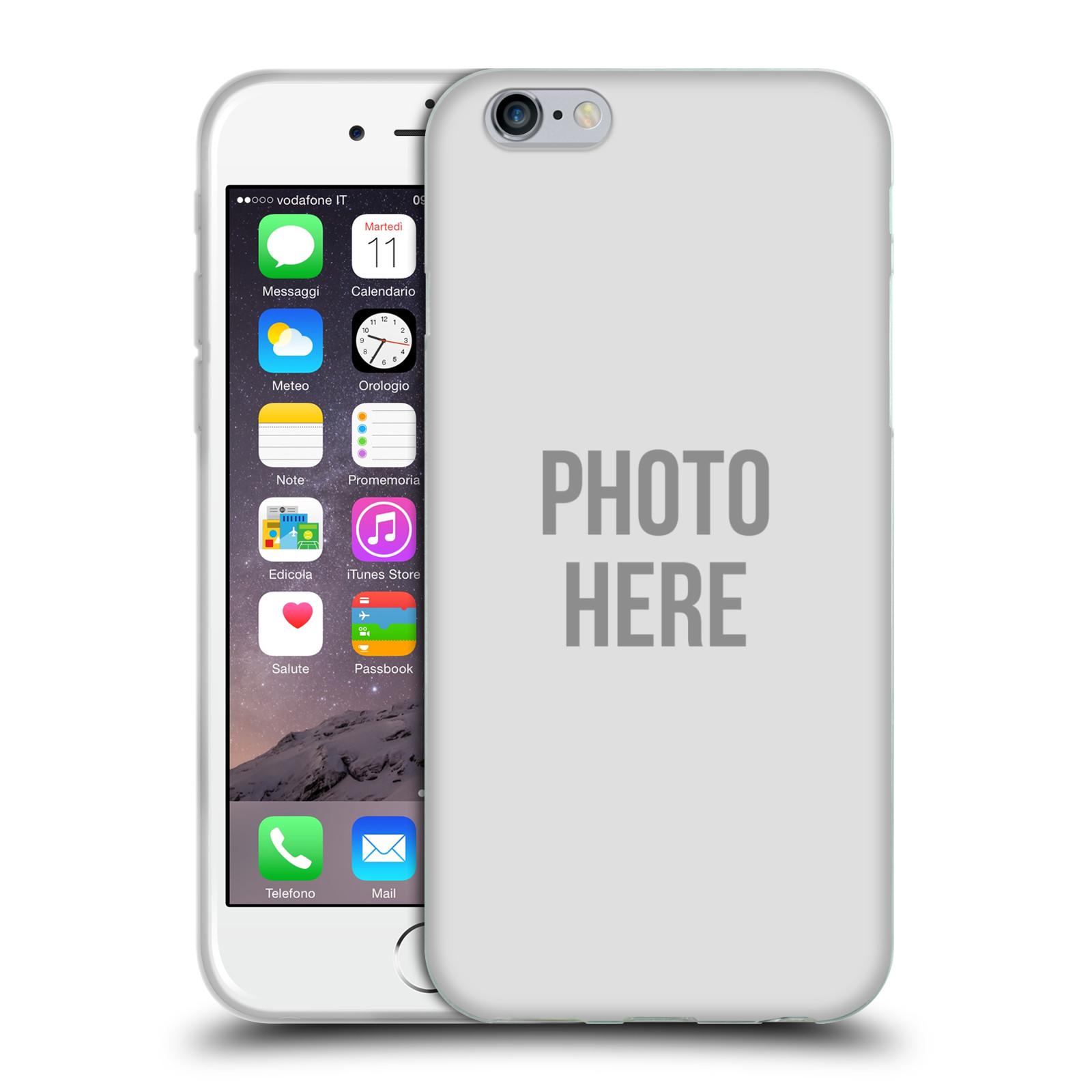 Silikonové pouzdro na mobil Apple iPhone 6 HEAD CASE s vlastním motivem