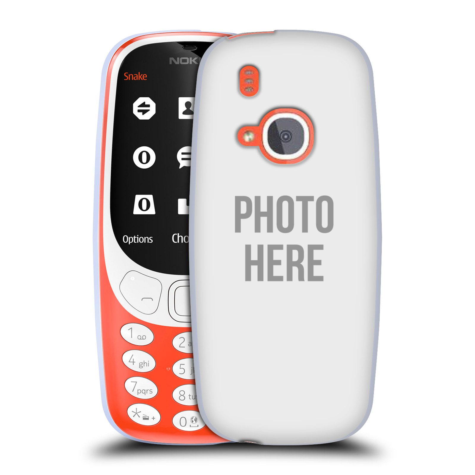 Silikonové pouzdro na mobil Nokia 3310 - Head Case - s vlastním motivem