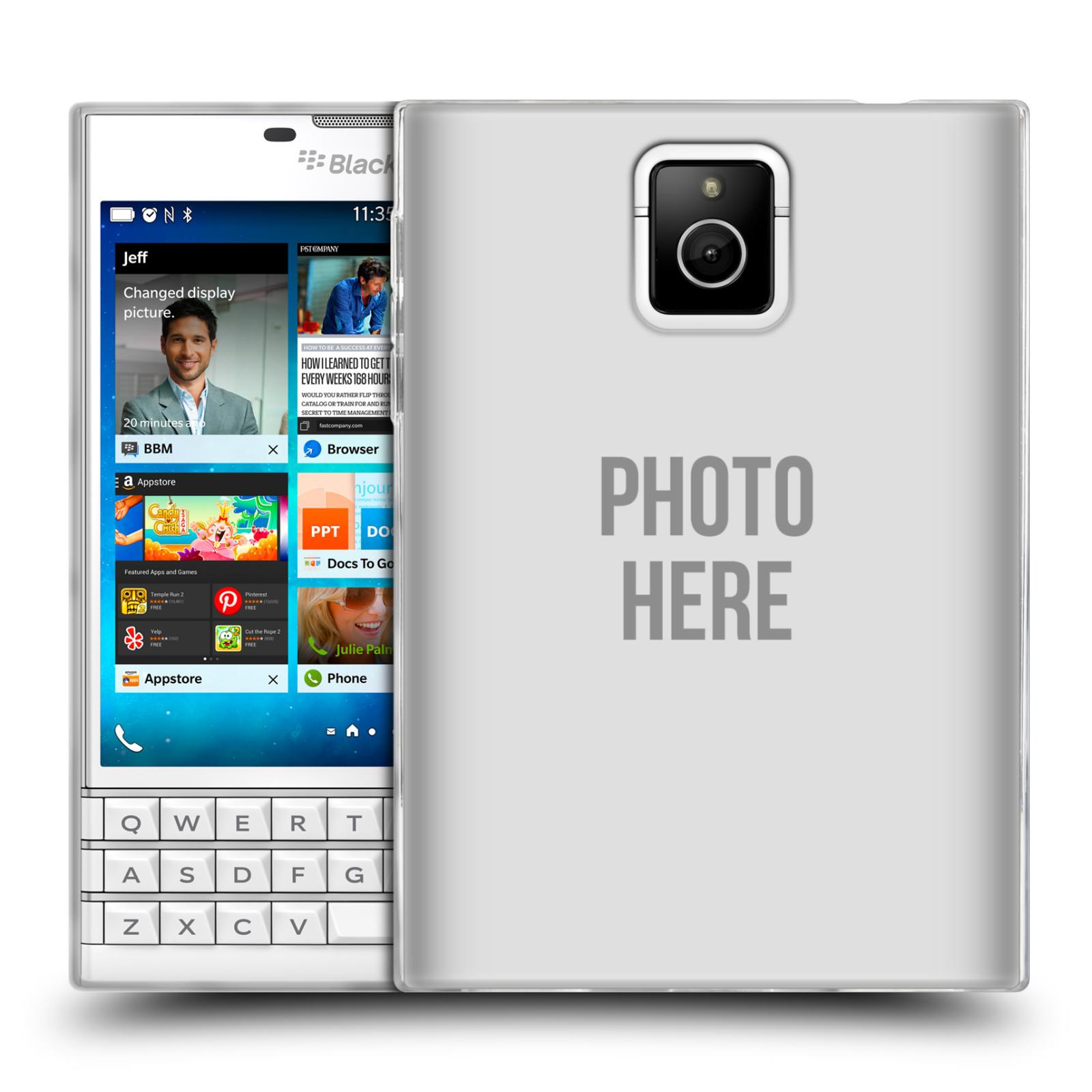 Silikonové pouzdro na mobil Blackberry PASSPORT HEAD CASE s vlastním motivem