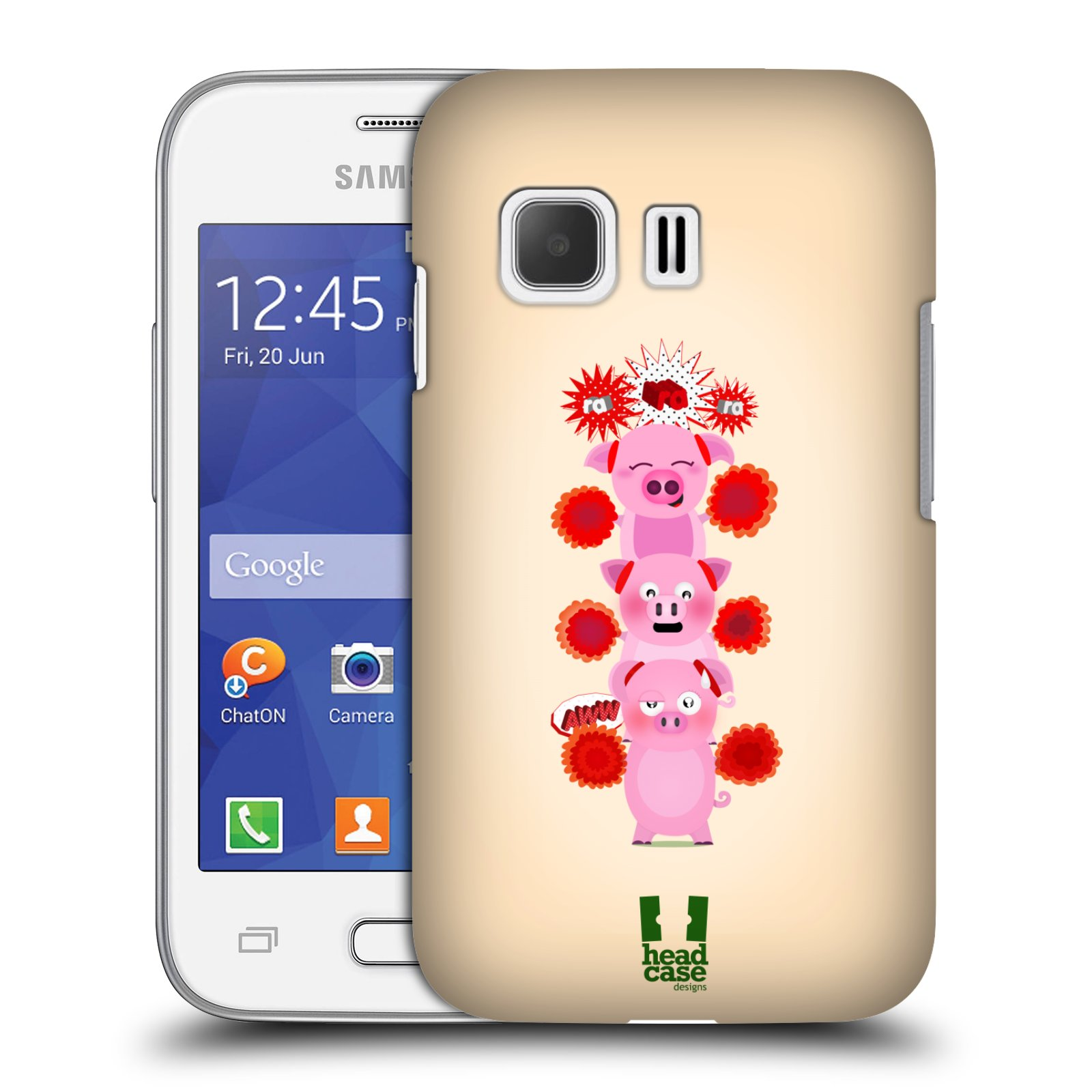 Plastové pouzdro na mobil Samsung Galaxy Young 2 HEAD CASE Prasátka ra ra ra (Plastový kryt či obal na mobilní telefon Samsung Galaxy Young 2 SM-G130)