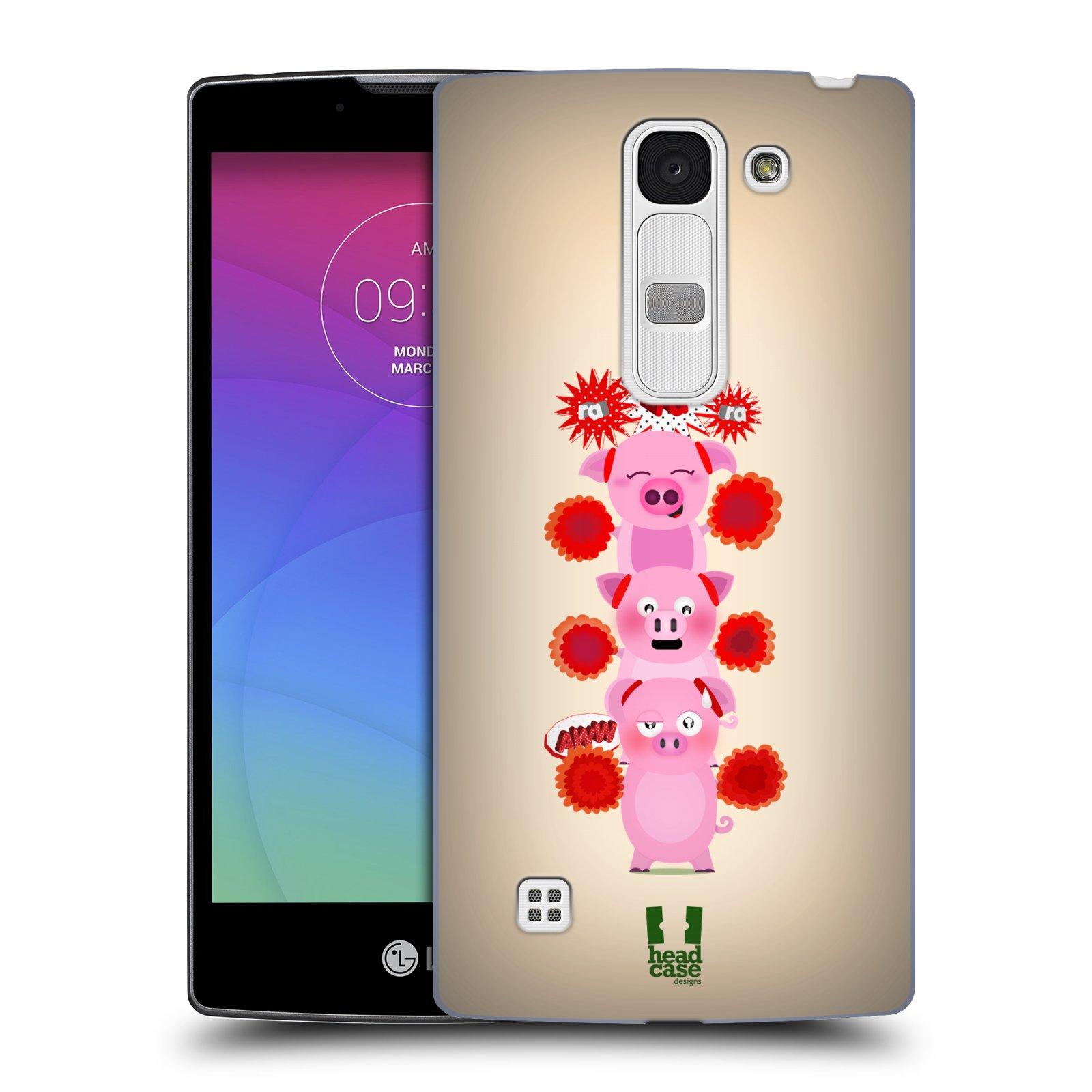 Plastové pouzdro na mobil LG Spirit LTE HEAD CASE Prasátka ra ra ra (Plastový kryt či obal na mobilní telefon LG Spirit H420 a LG Spirit LTE H440N)