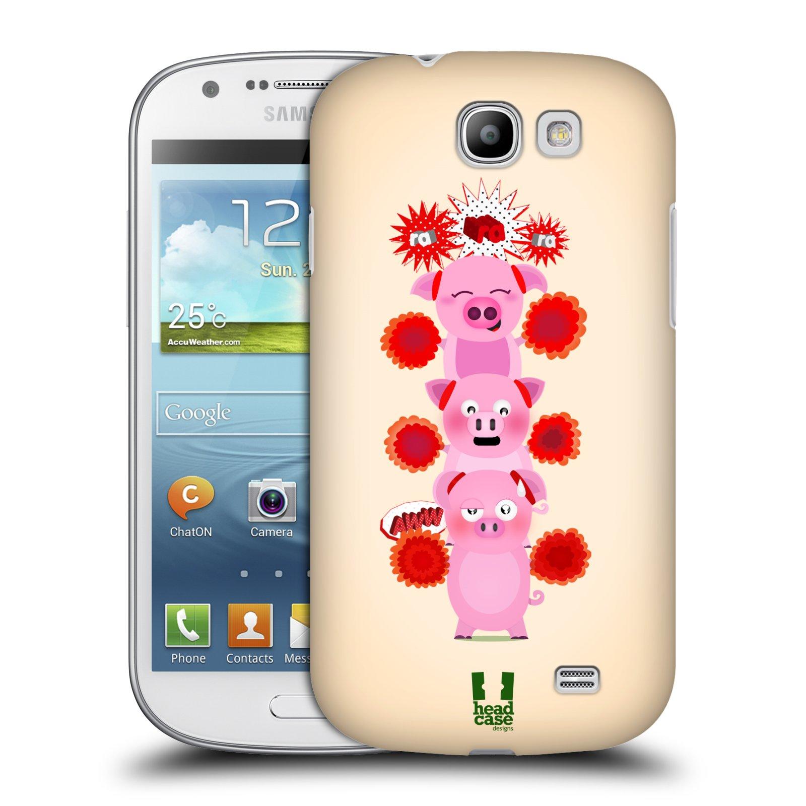 Plastové pouzdro na mobil Samsung Galaxy Express HEAD CASE Prasátka ra ra ra (Plastový kryt či obal na mobilní telefon Samsung Galaxy Express GT-i8730)
