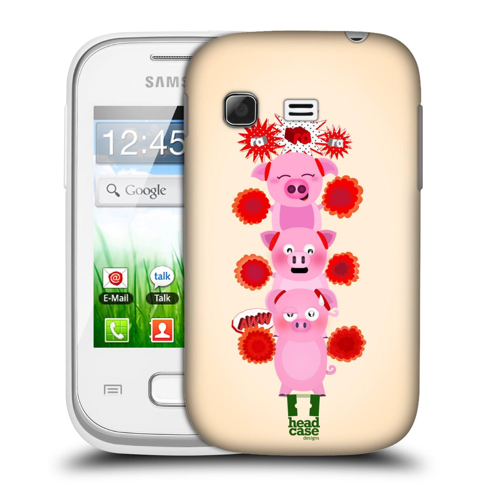 Plastové pouzdro na mobil Samsung Galaxy Pocket HEAD CASE Prasátka ra ra ra (Plastový kryt či obal na mobilní telefon Samsung Galaxy Pocket GT-S5300)