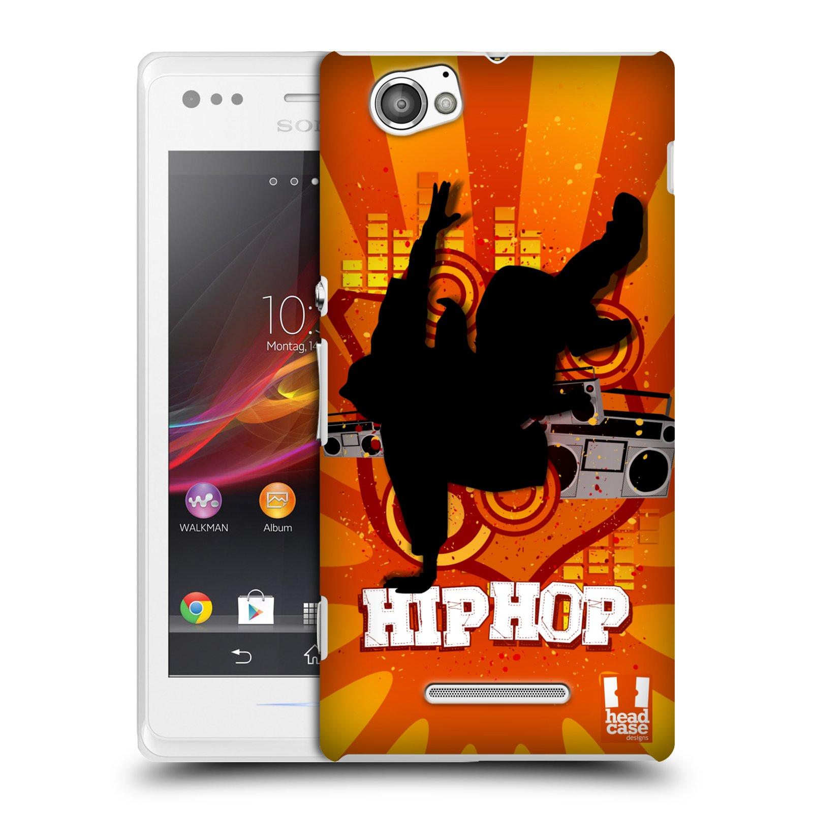 Plastové pouzdro na mobil Sony Xperia M C1905 HEAD CASE HIP HOP (Kryt či obal na mobilní telefon Sony Xperia M a M Dual)