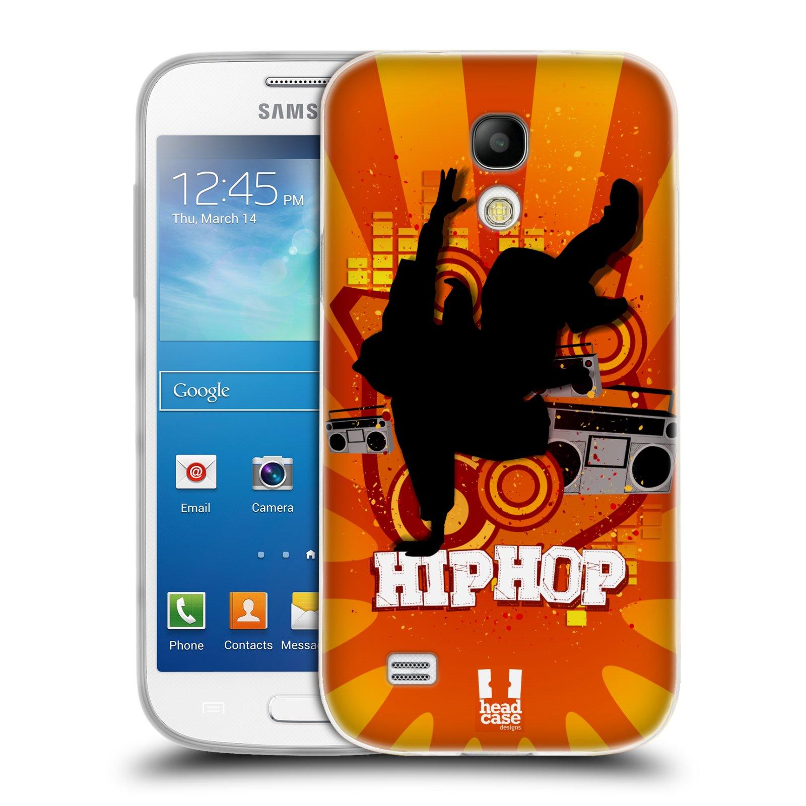 Silikonové pouzdro na mobil Samsung Galaxy S4 Mini HEAD CASE HIP HOP (Silikonový kryt či obal na mobilní telefon Samsung Galaxy S4 Mini GT-i9195 / i9190 (nepasuje na verzi Black Edition))